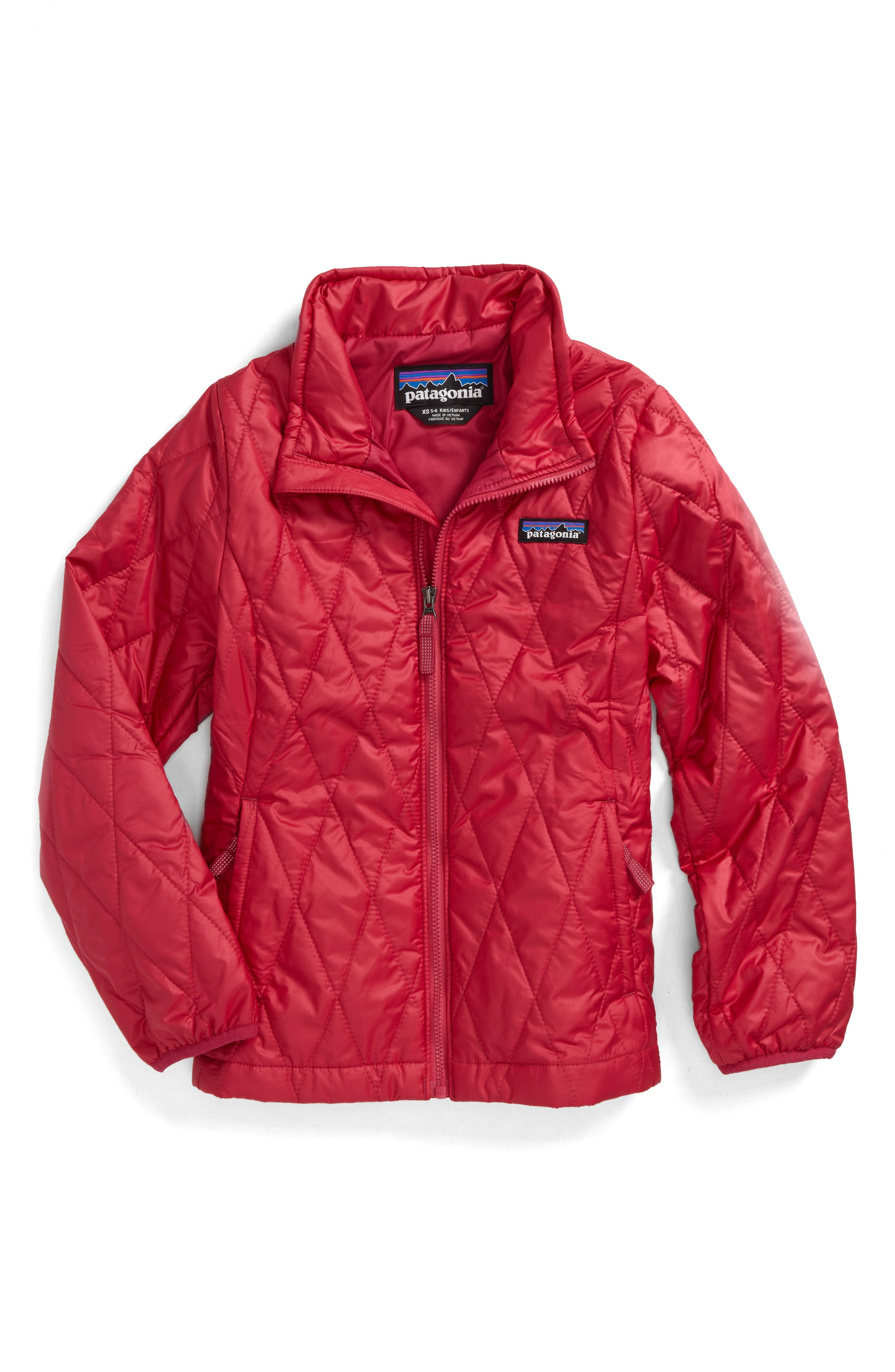 Alternate Image 1 Selected - Patagonia Nano Puff® Quilted Water Resistant Jacket (Little Girls & Big Girls)