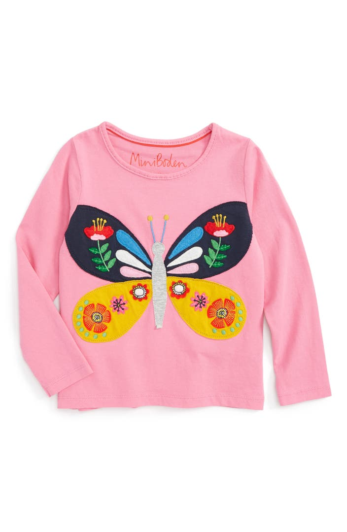 Mini boden appliqu tee toddler girls little girls big for Shop mini boden