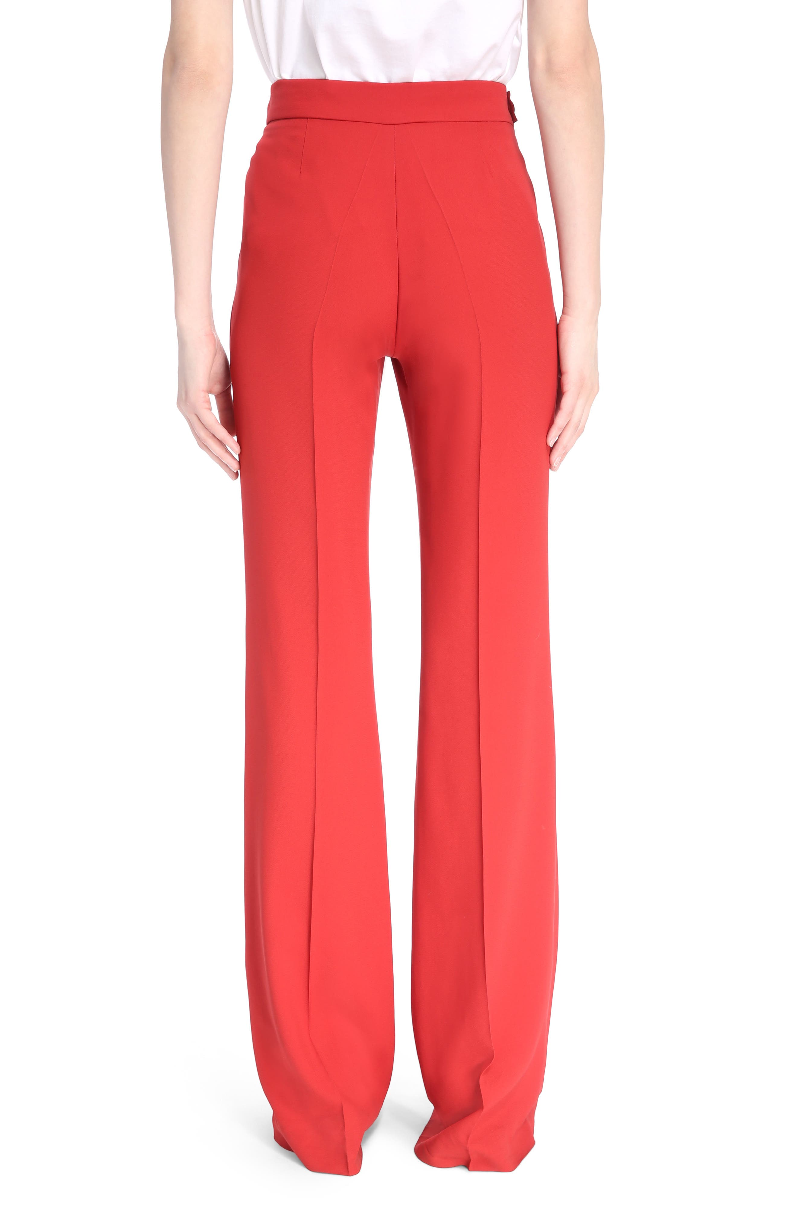 Cady Flare Suiting Pants,                             Alternate thumbnail 2, color,                             Ginger Red