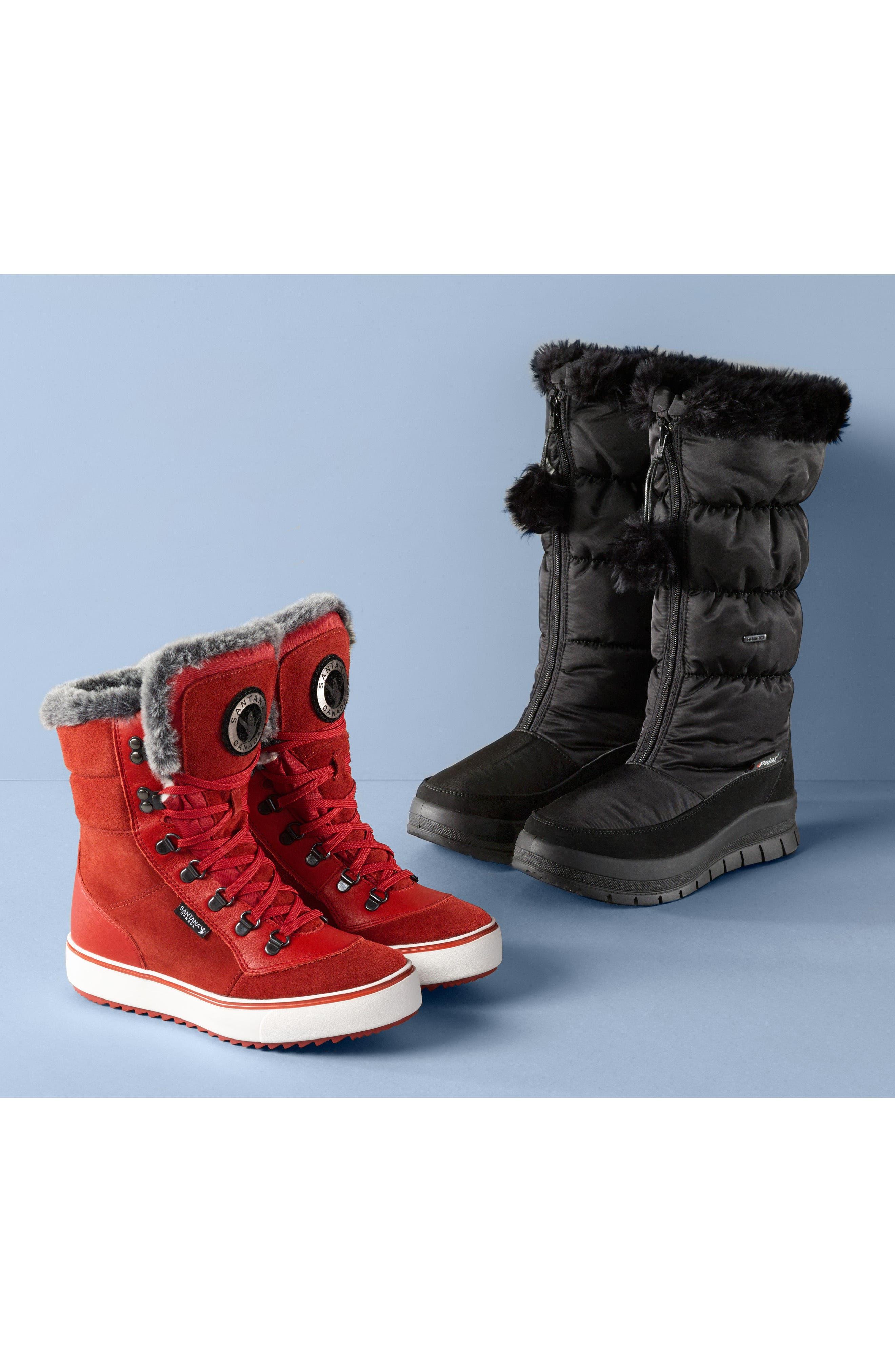 Toboggan 2 Faux Fur Trim Insulated Waterproof Boot,                             Alternate thumbnail 7, color,