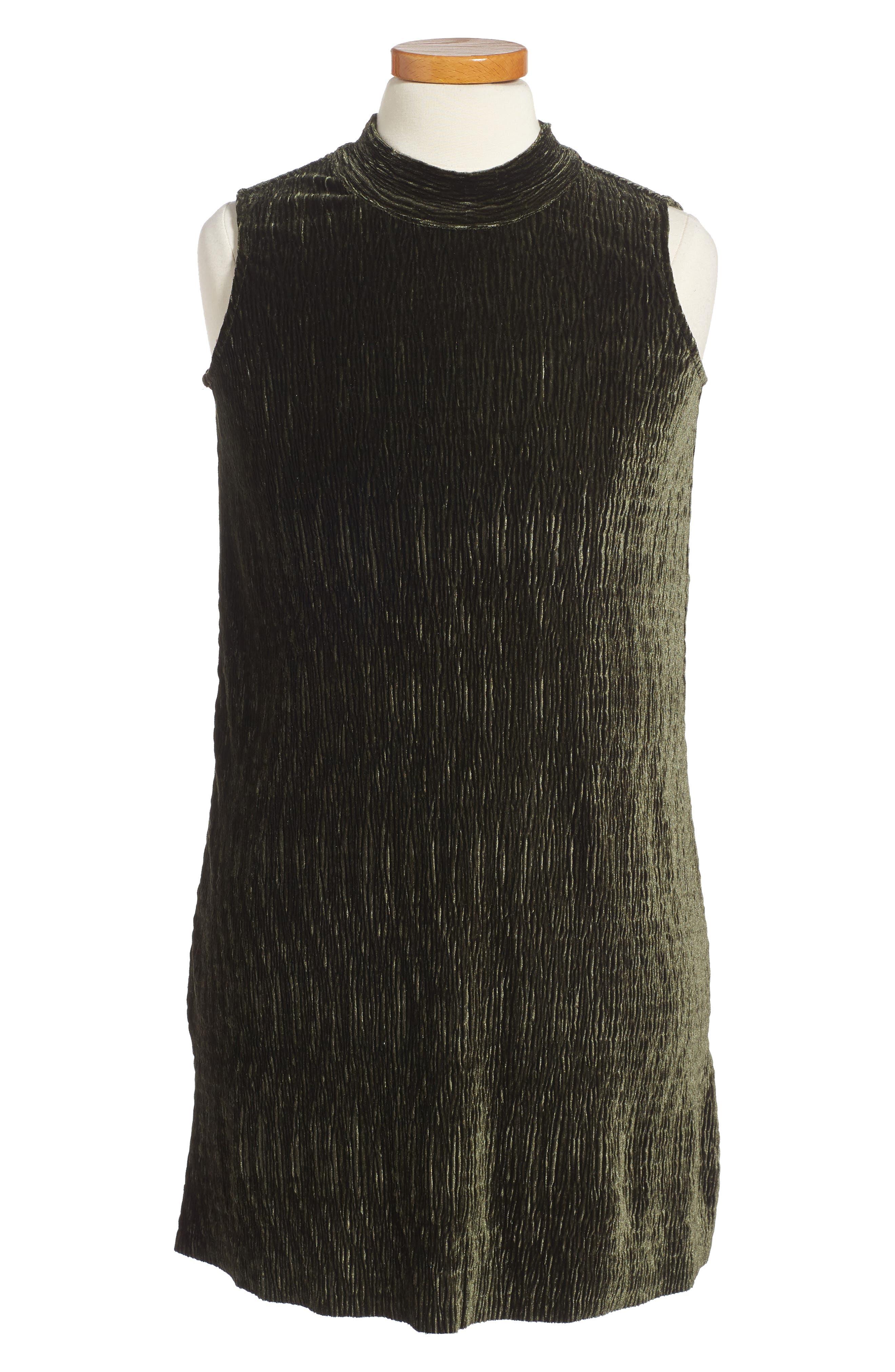 Mock Neck Dress,                         Main,                         color, Olive