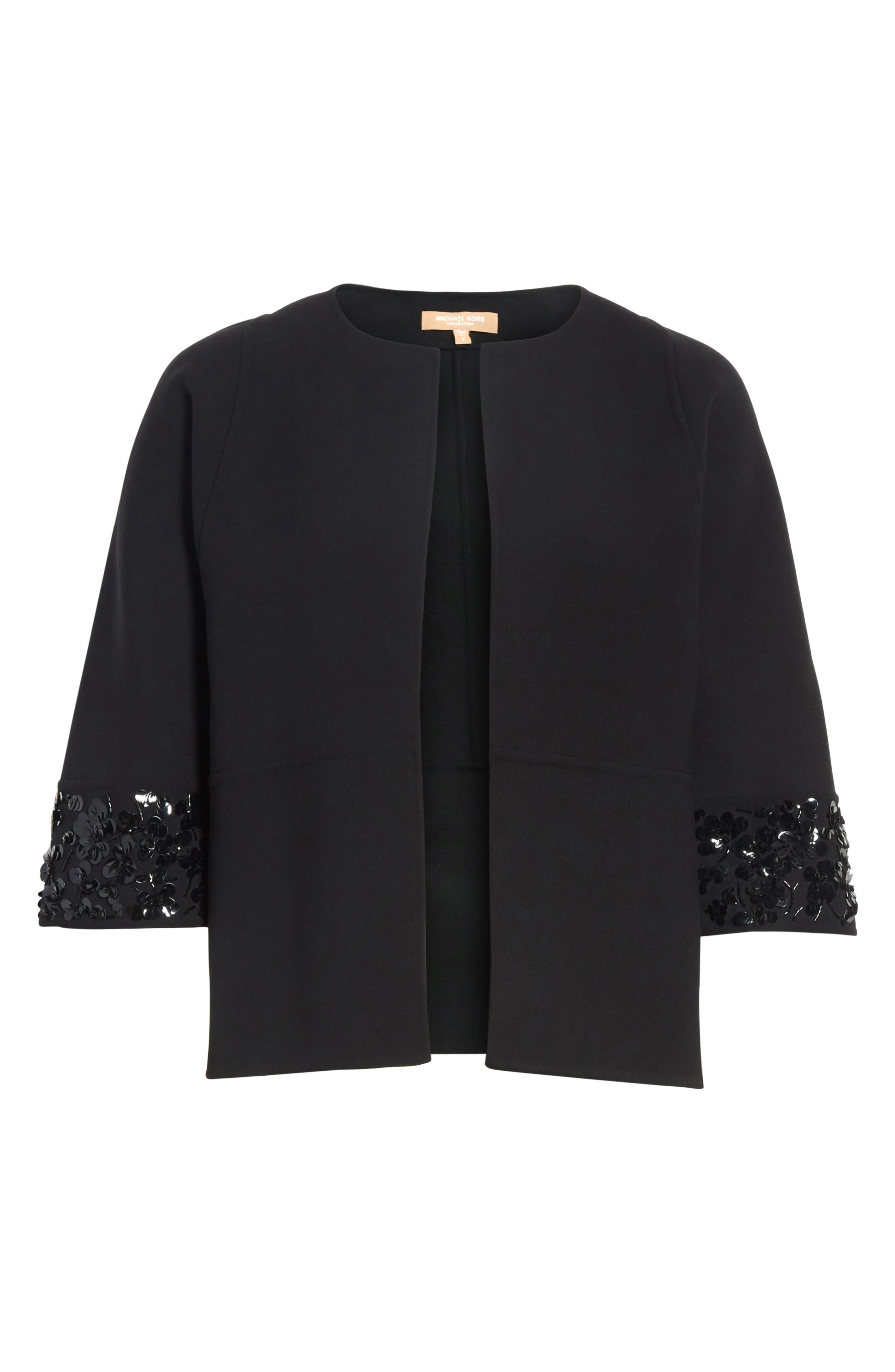 Embellished Jacket,                             Alternate thumbnail 7, color,                             Black