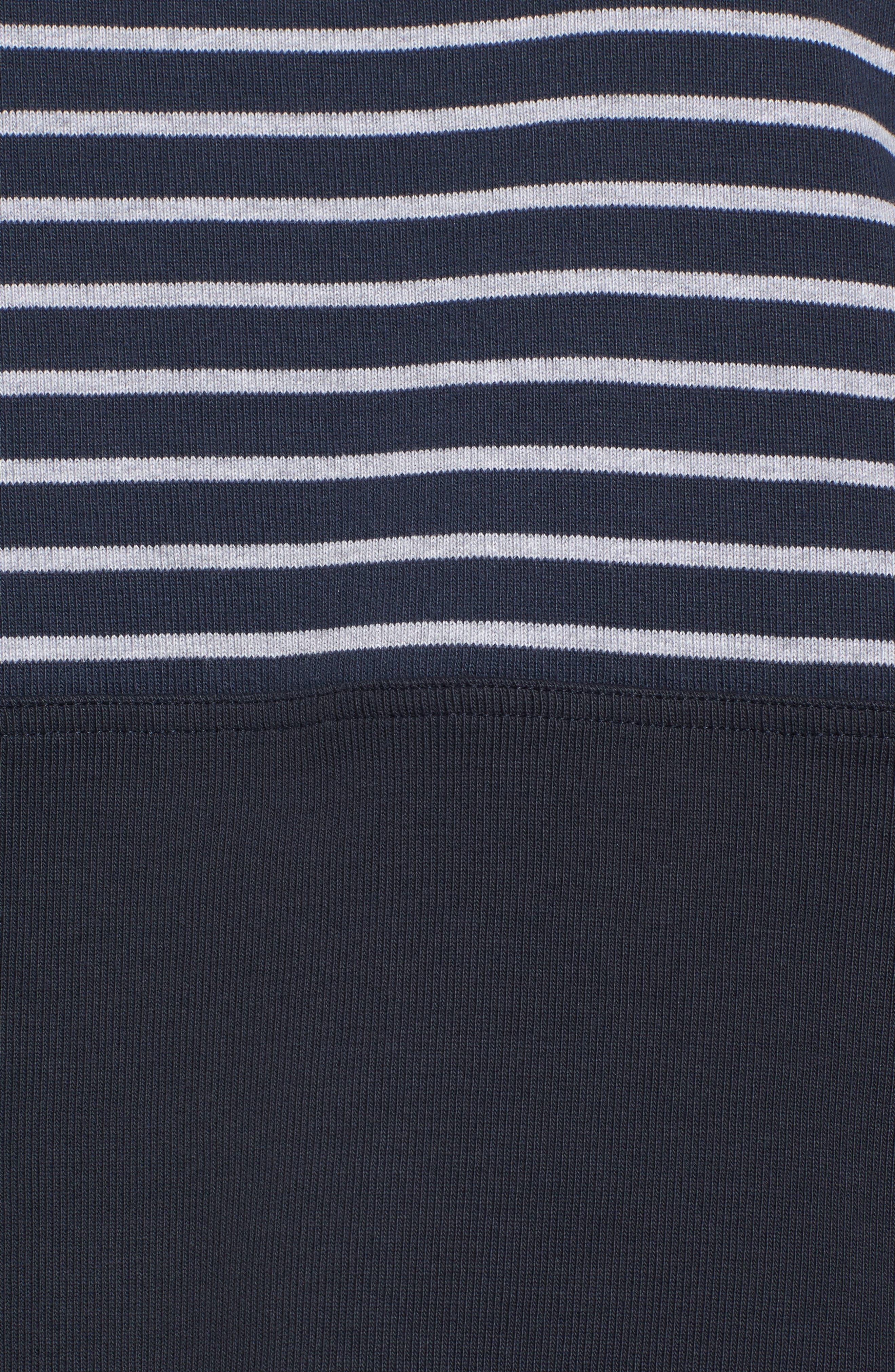 Seaburn Stripe Sweatshirt,                             Alternate thumbnail 5, color,                             Navy/ Grey