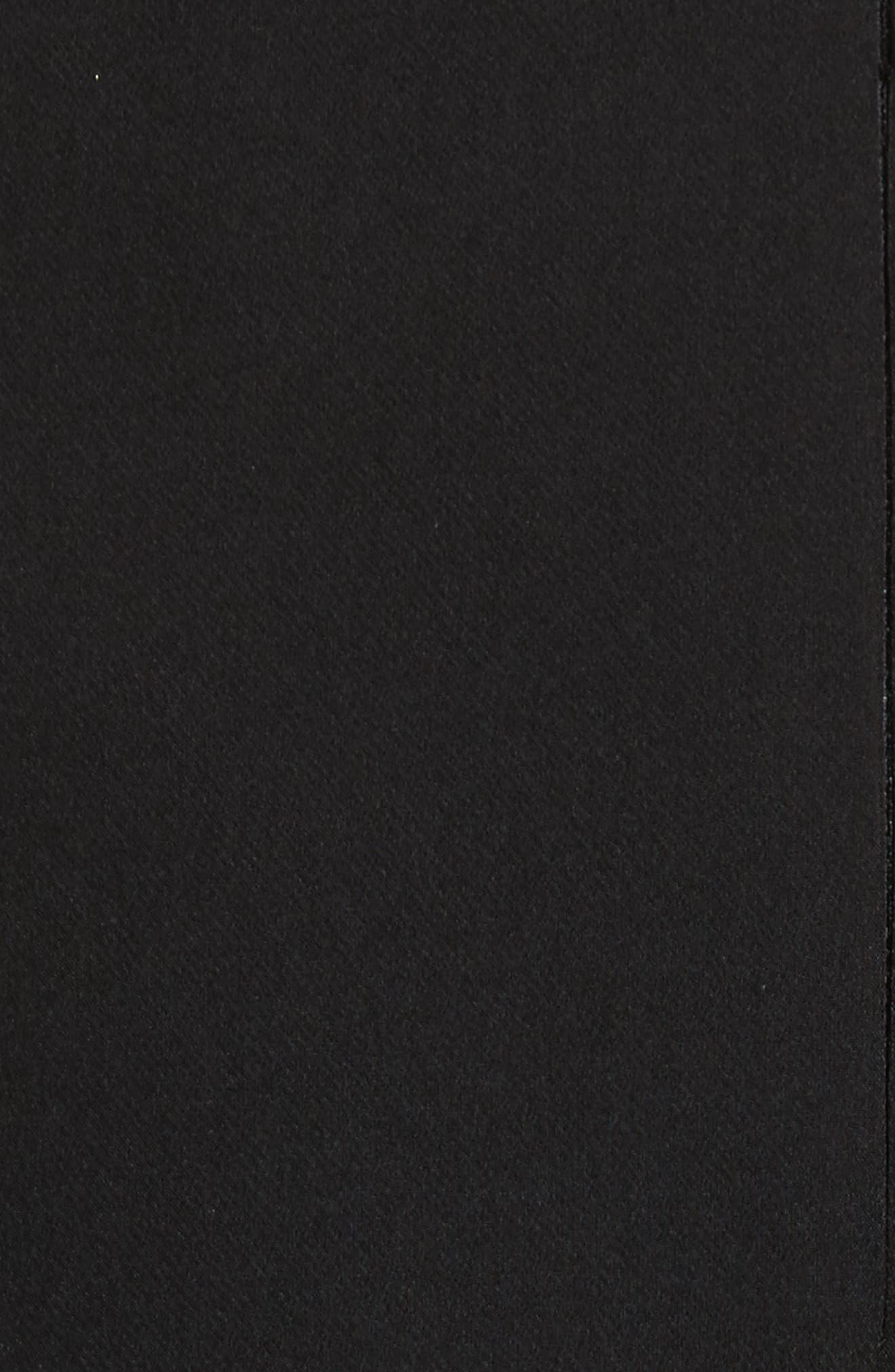 Brie Off the Shoulder Italian Cady Dress,                             Alternate thumbnail 5, color,                             Black