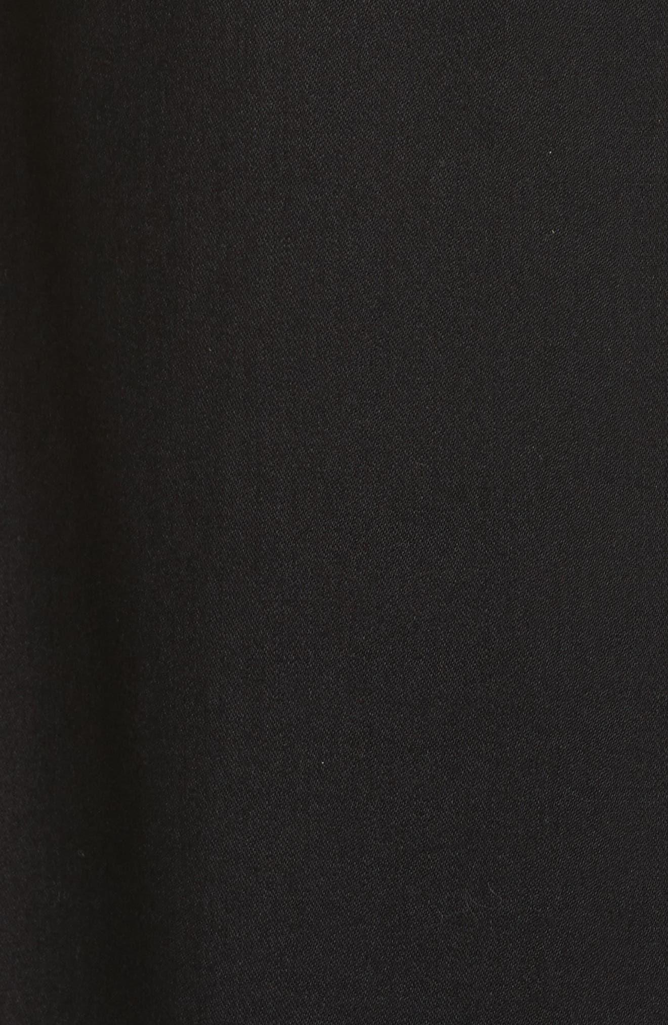 Italian Wool Gabardine Apron Jumpsuit,                             Alternate thumbnail 5, color,                             Black