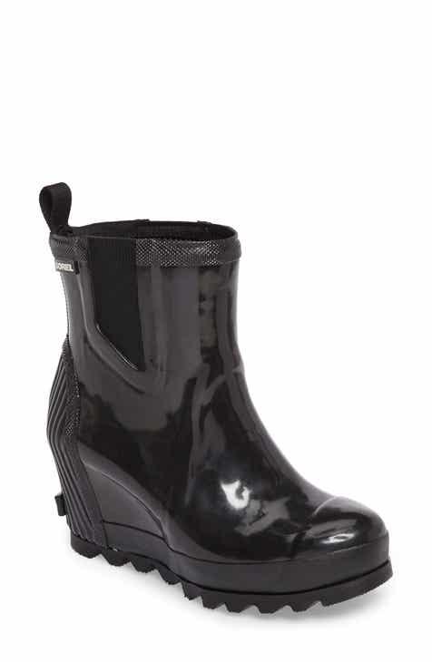 d4fcb70702b SOREL Joan Glossy Wedge Waterproof Rain Boot (Women)