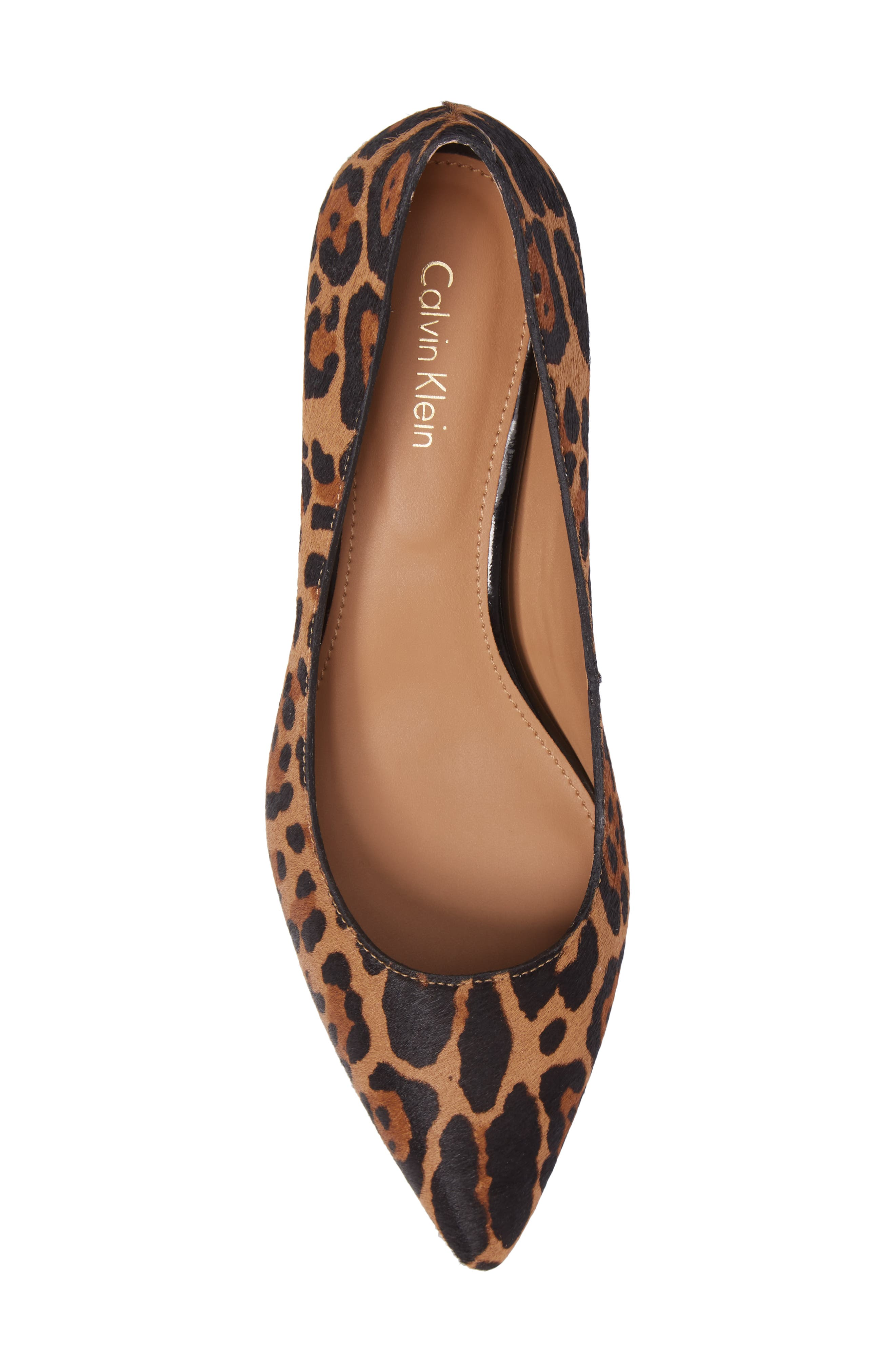 Genoveva Pump,                             Alternate thumbnail 5, color,                             Natural Leopard Hair Calf