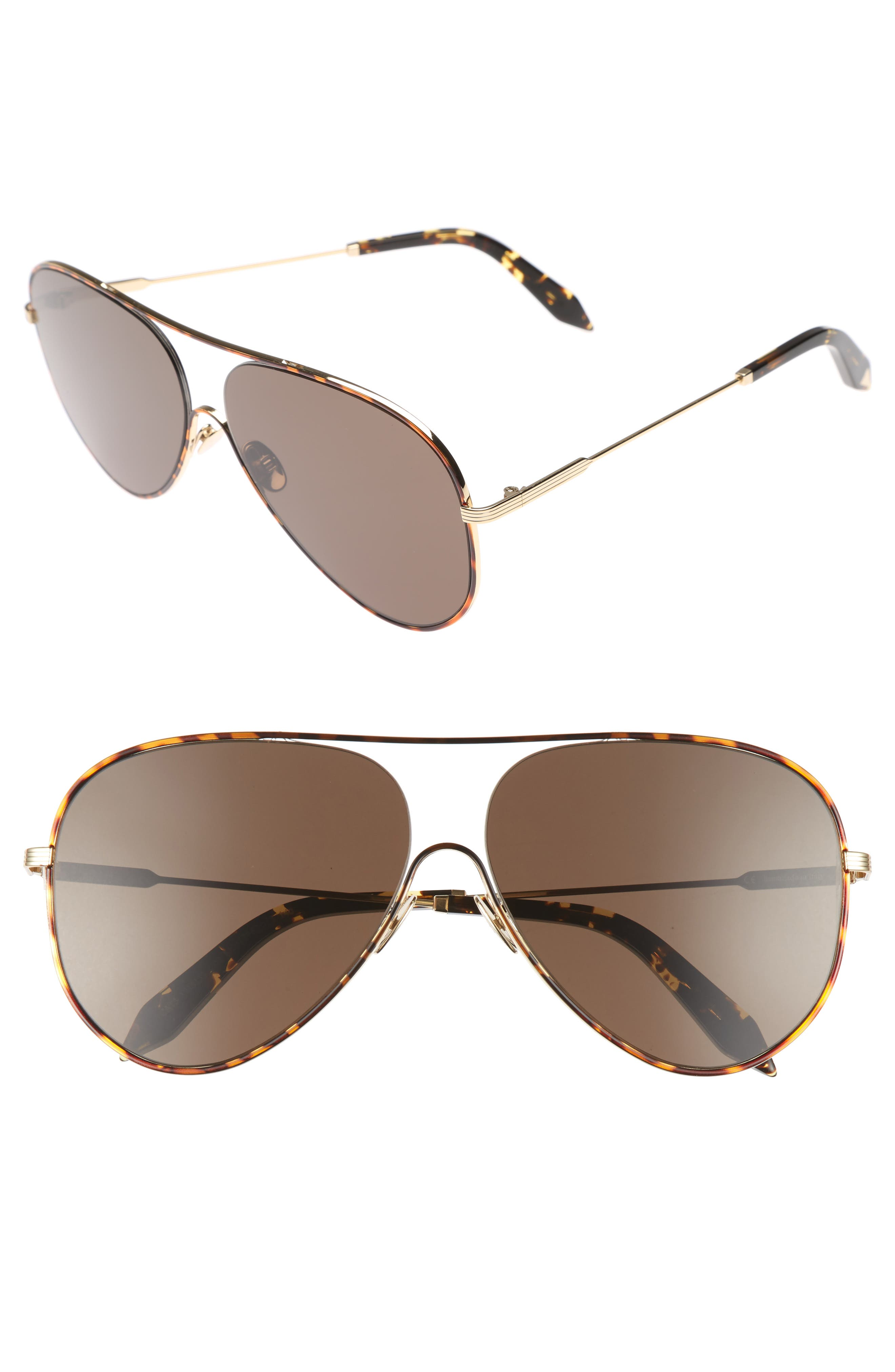 Main Image - Victoria Beckham Loop 62mm Oversize Aviator Sunglasses