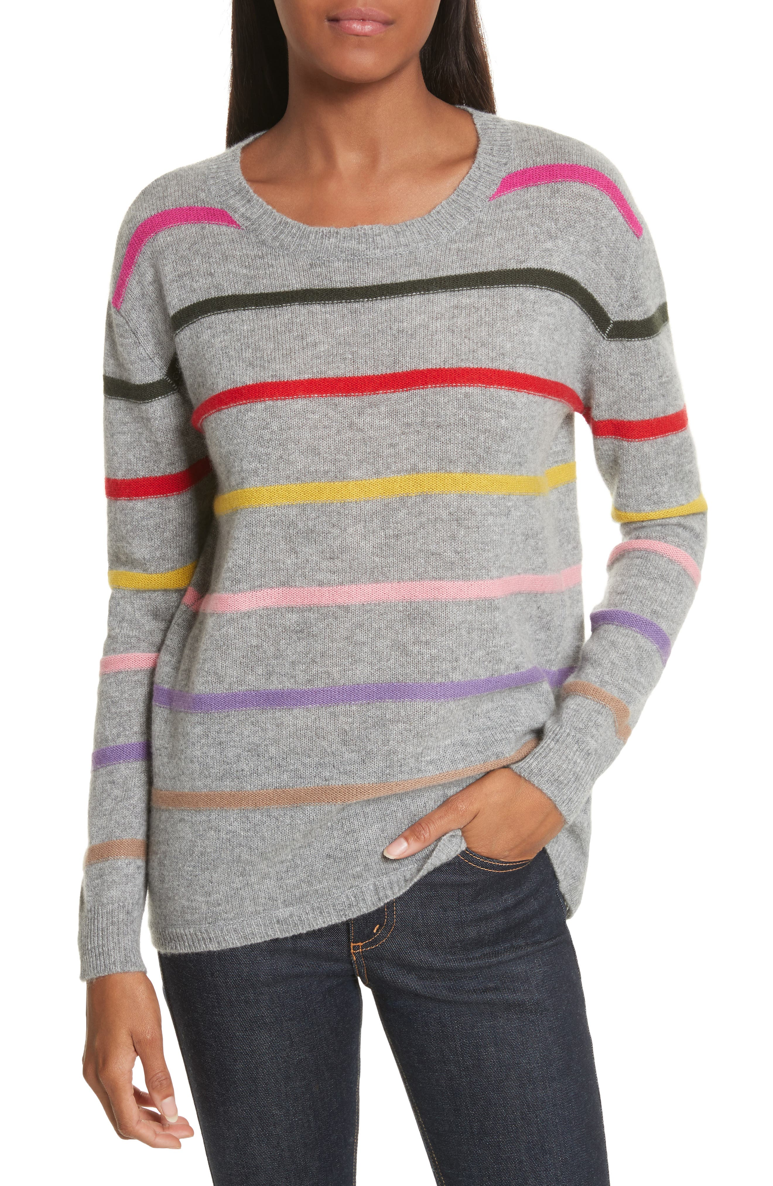 Main Image - Allude Stripe Cashmere Sweater