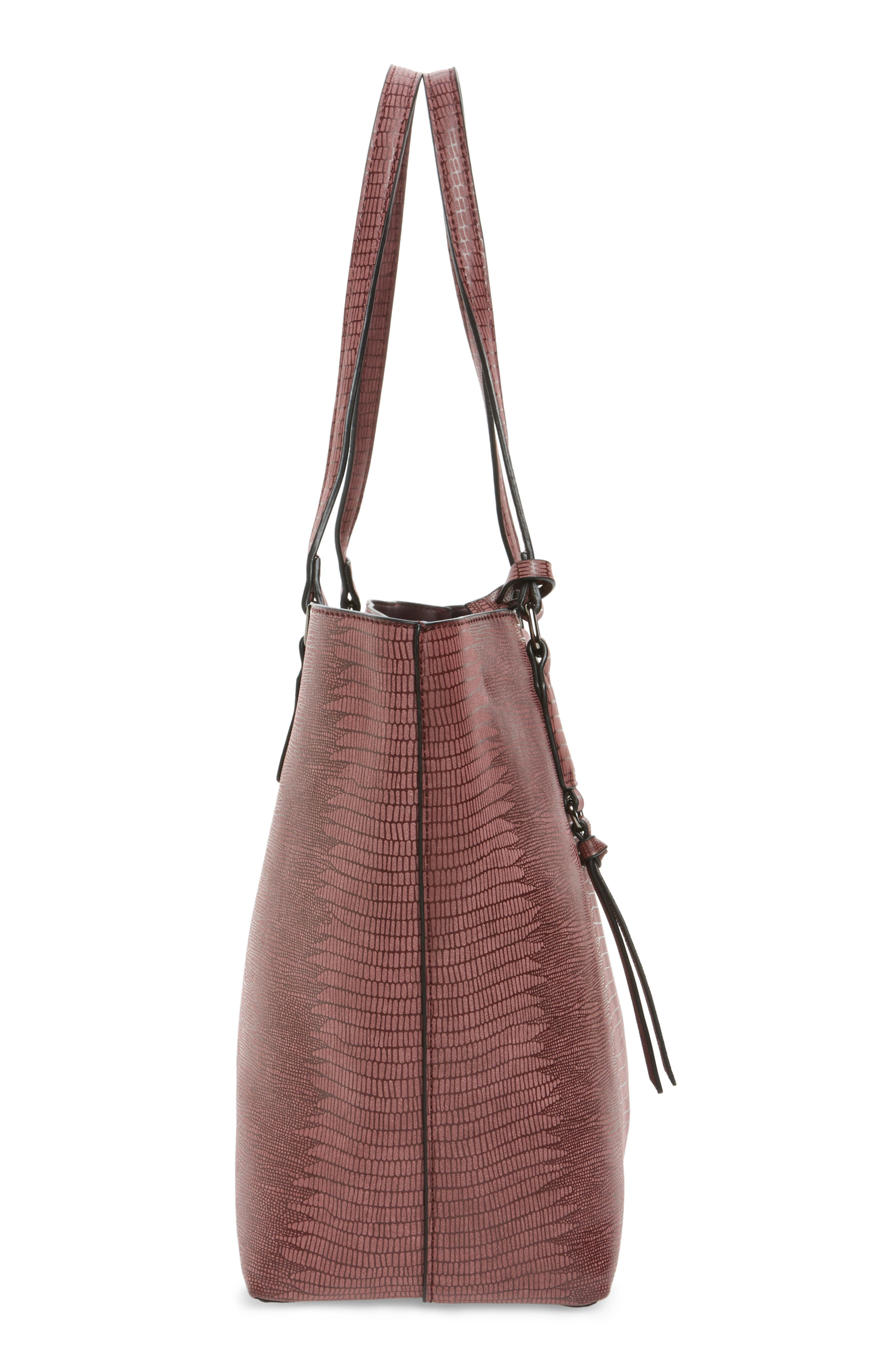 Alternate Image 4  - Street Level Snake Embossed Faux Leather Tote