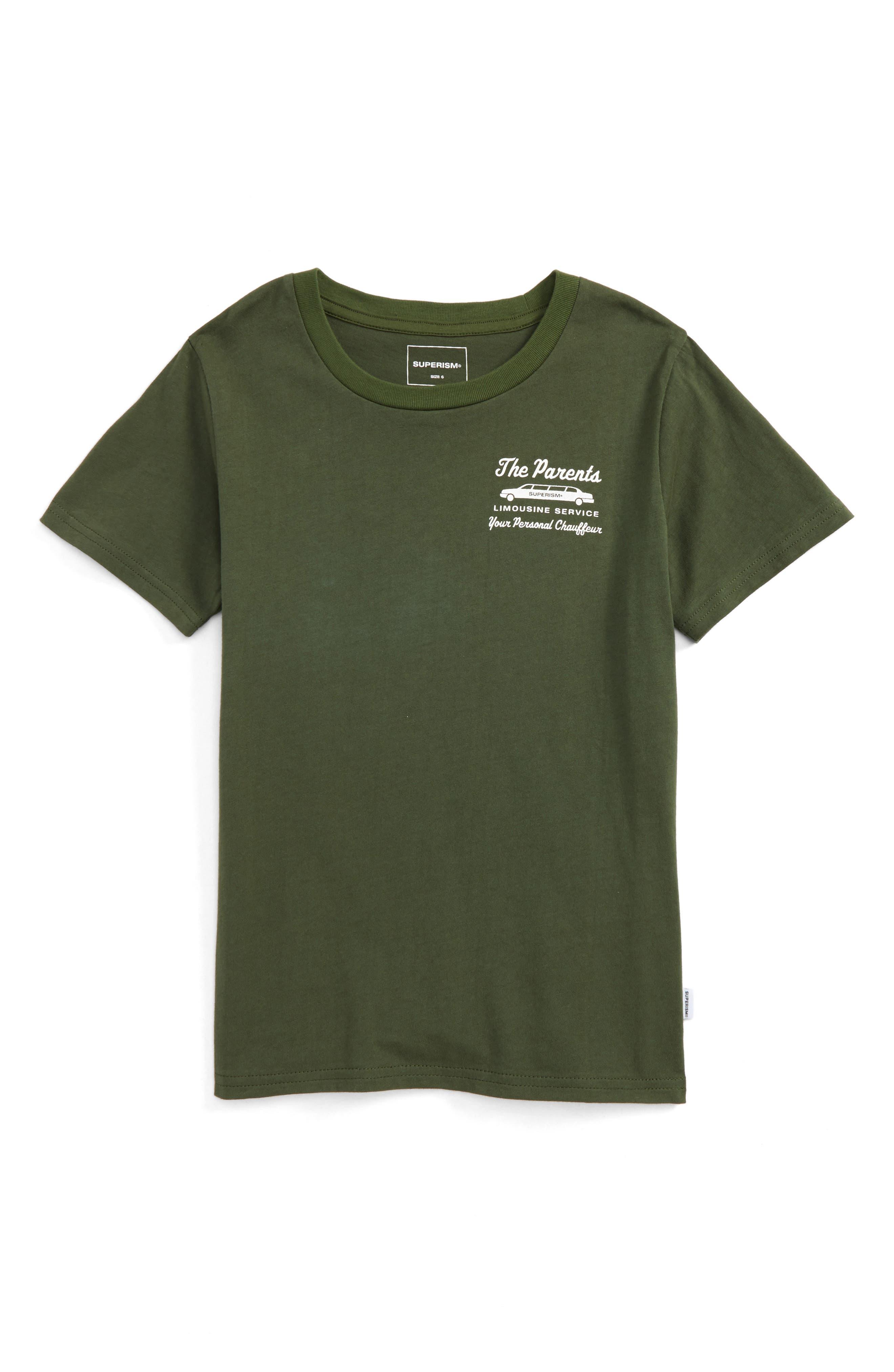 The Parents Limousine Service T-Shirt,                         Main,                         color, Olive