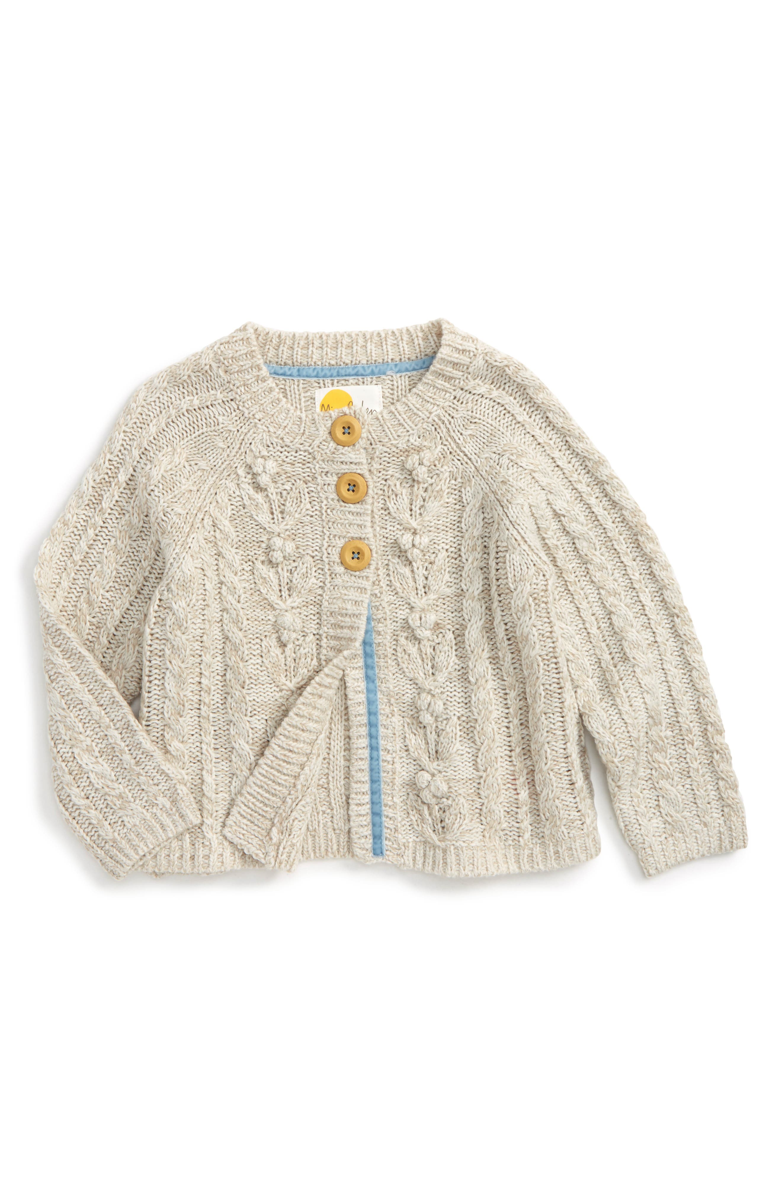 Mini Boden Cable Knit Cardigan (Toddler Girls, Little Girls & Big Girls)