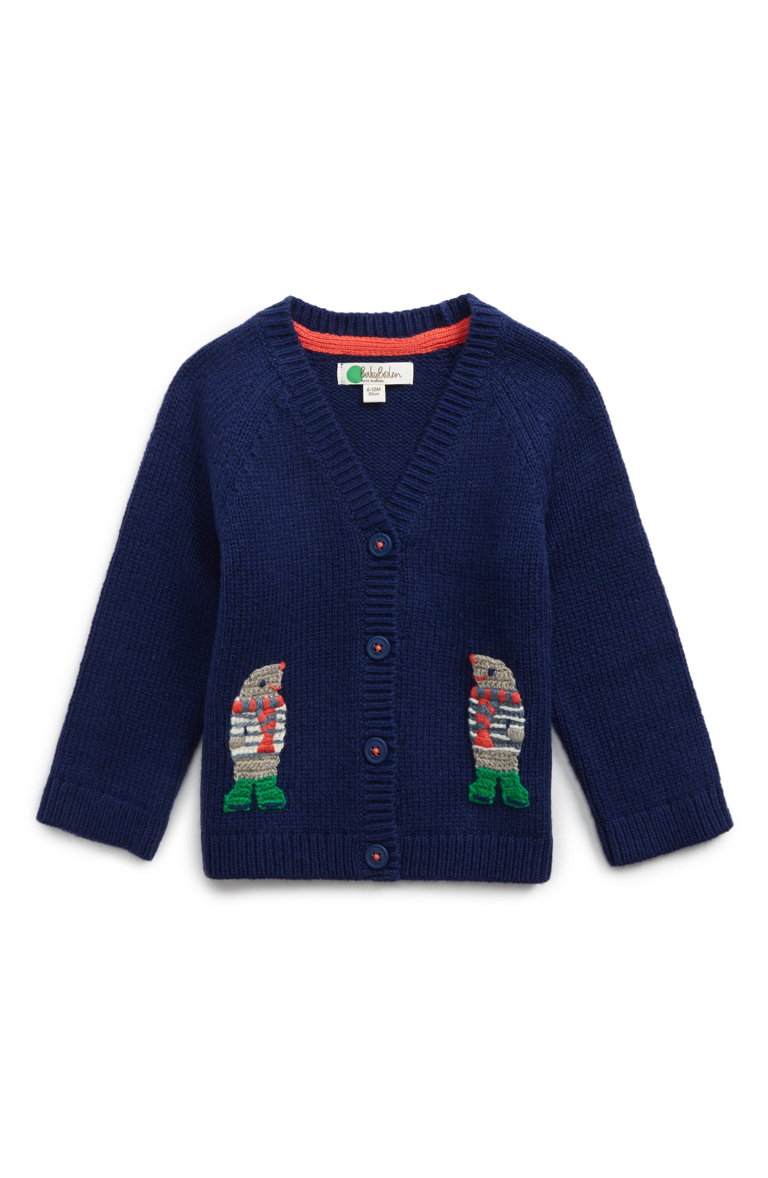 Mini Boden Crochet Friends Cardigan (Baby & Toddler)