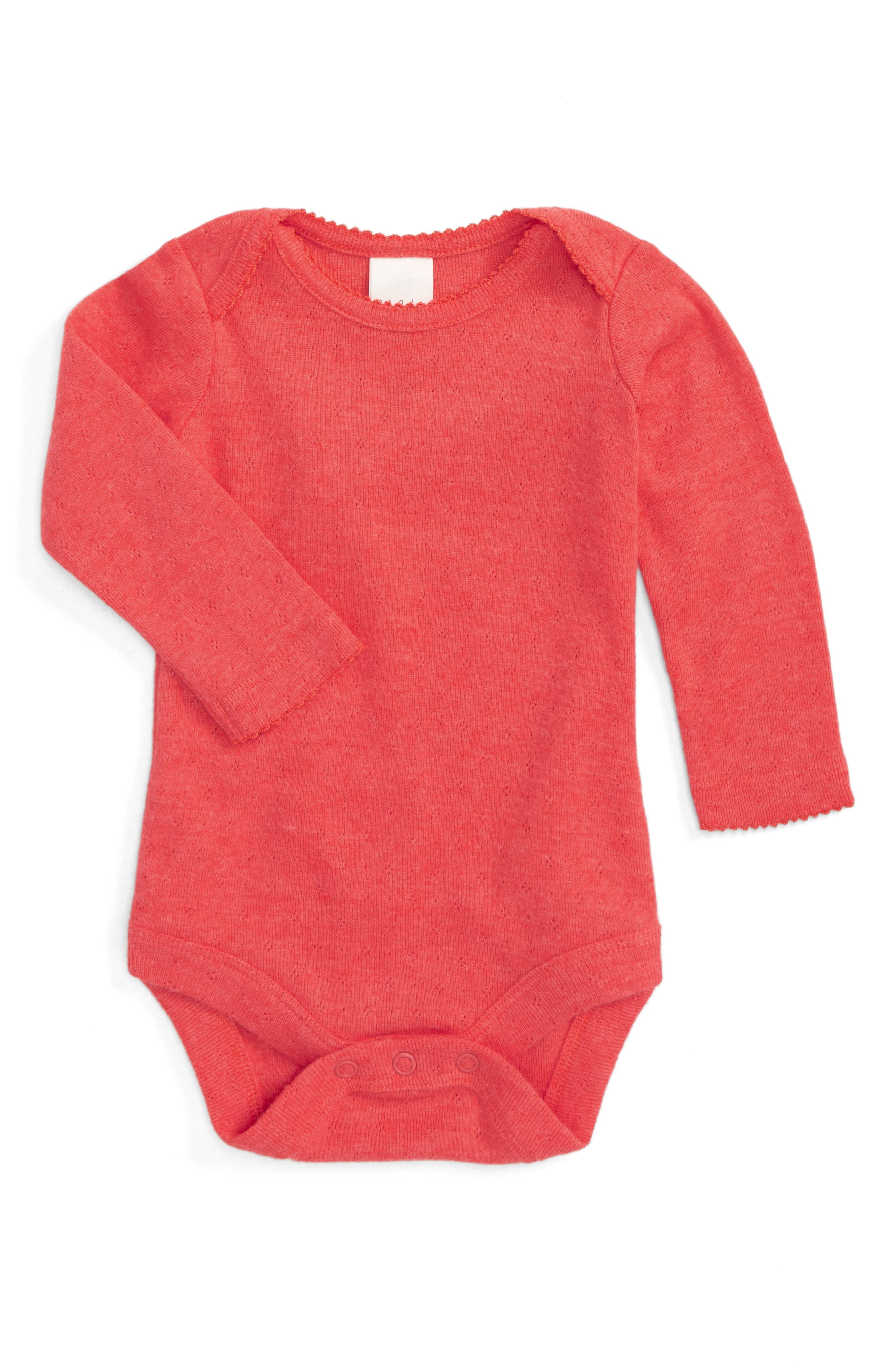 Supersoft Pointelle Bodysuit,                         Main,                         color, Red Jam