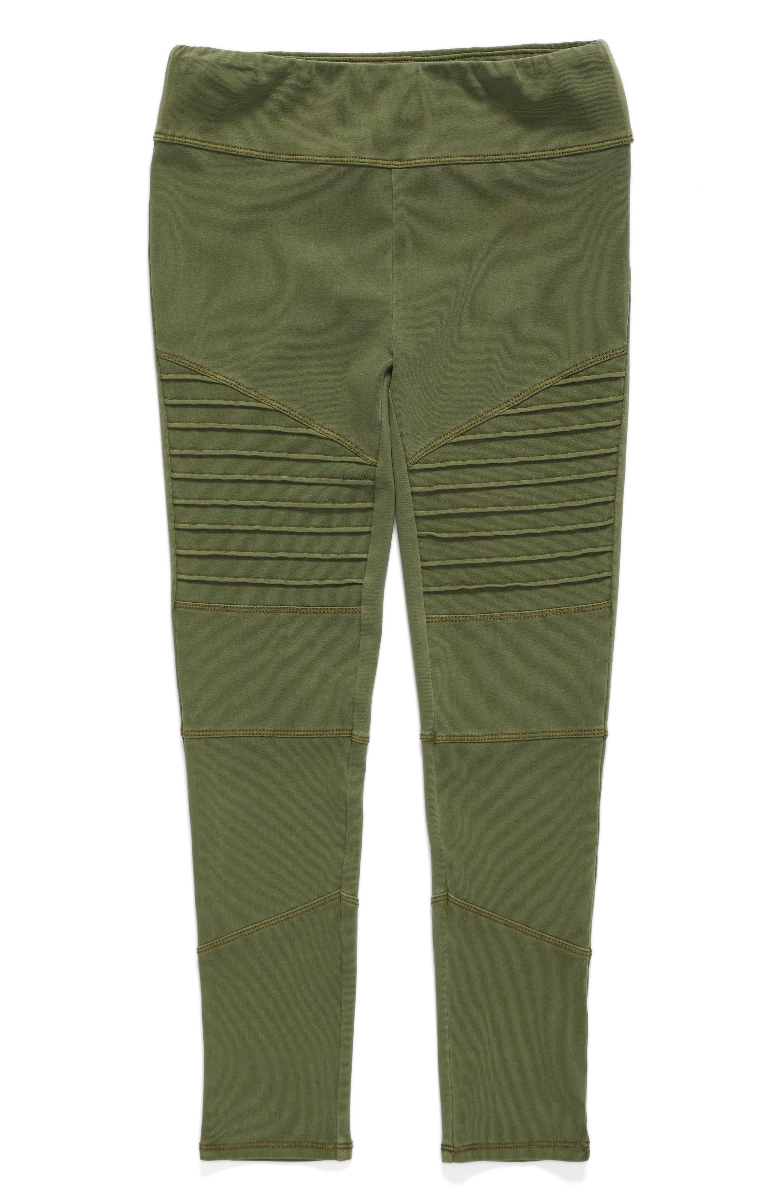 High Waist Moto Pants,                         Main,                         color, Olive Burnt Wash