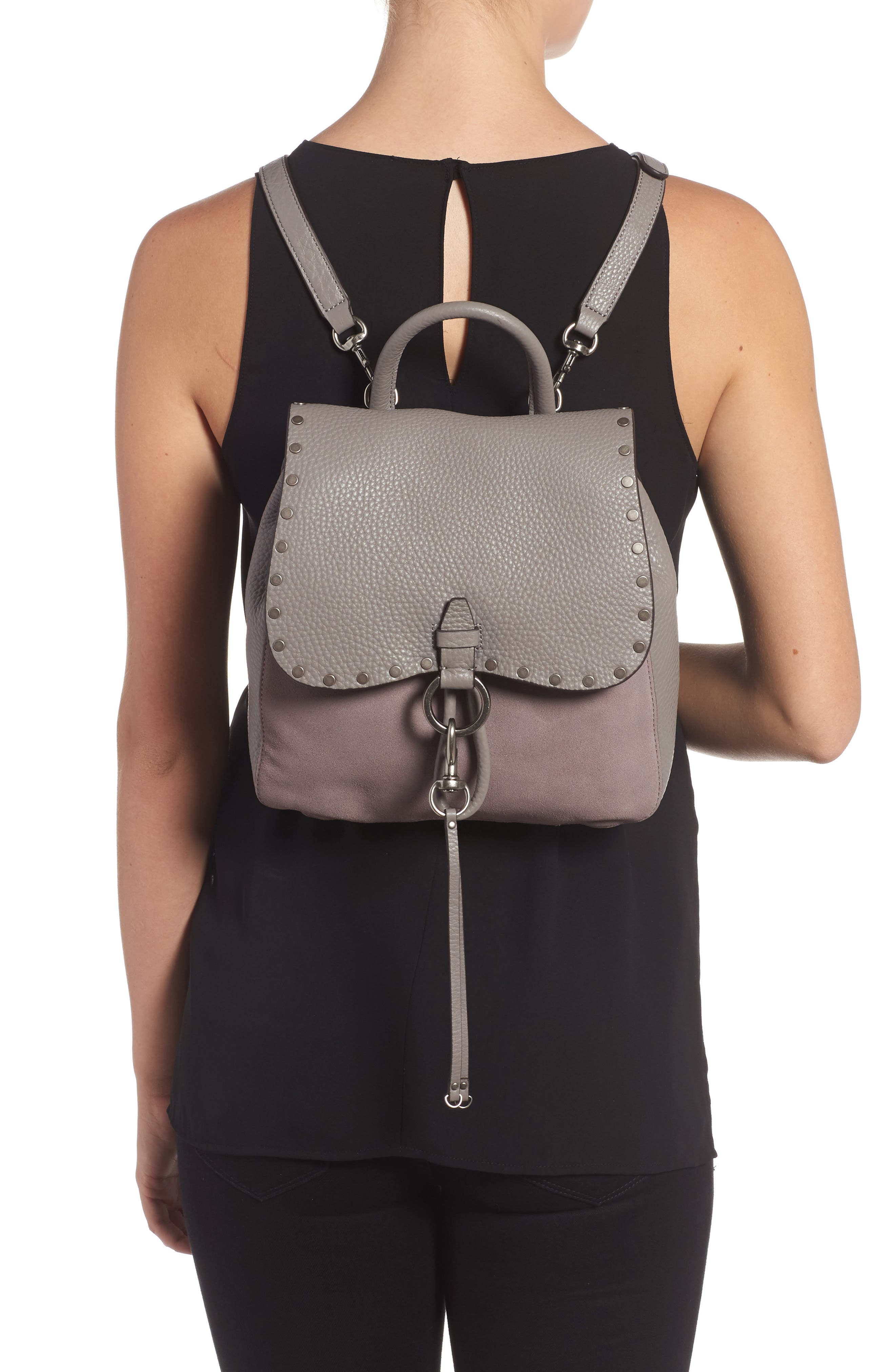 Alternate Image 2  - Rebecca Minkoff Small Keith Suede & Leather Backpack