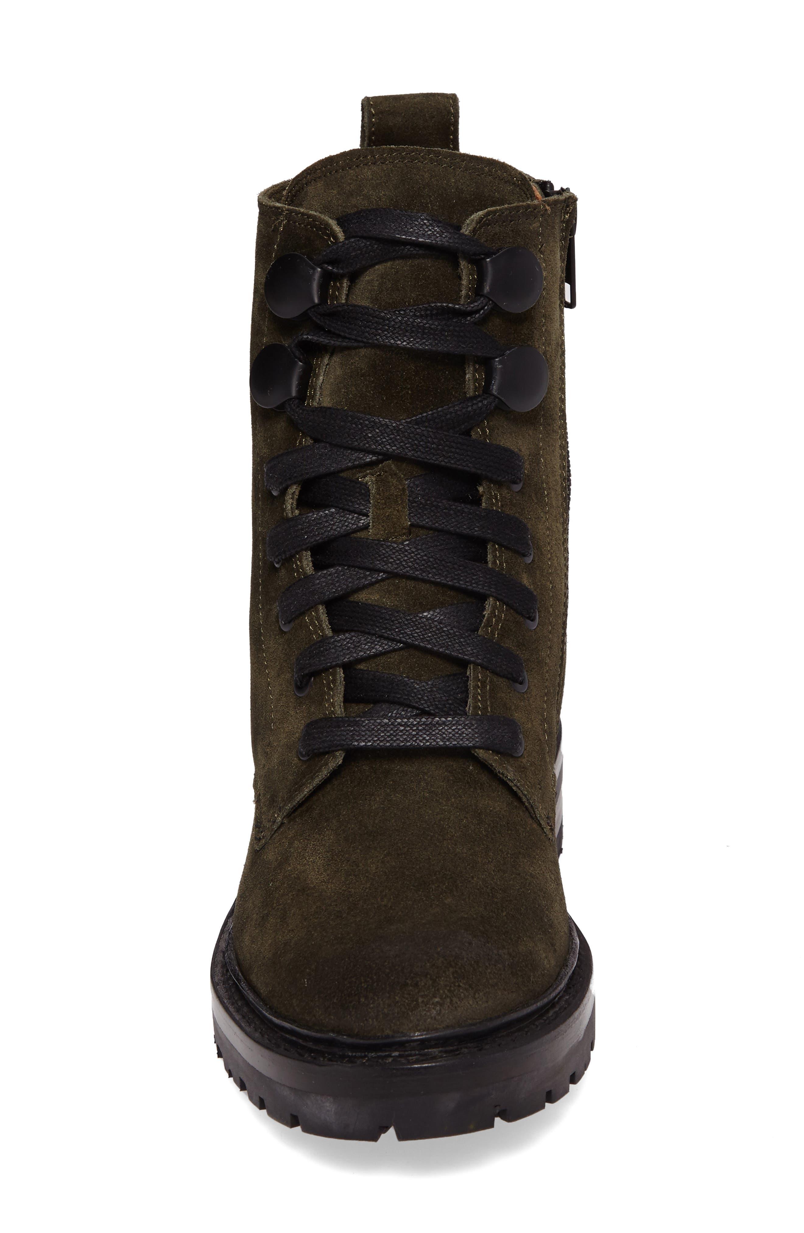 Julie Hook Combat Boot,                             Alternate thumbnail 4, color,                             Forest