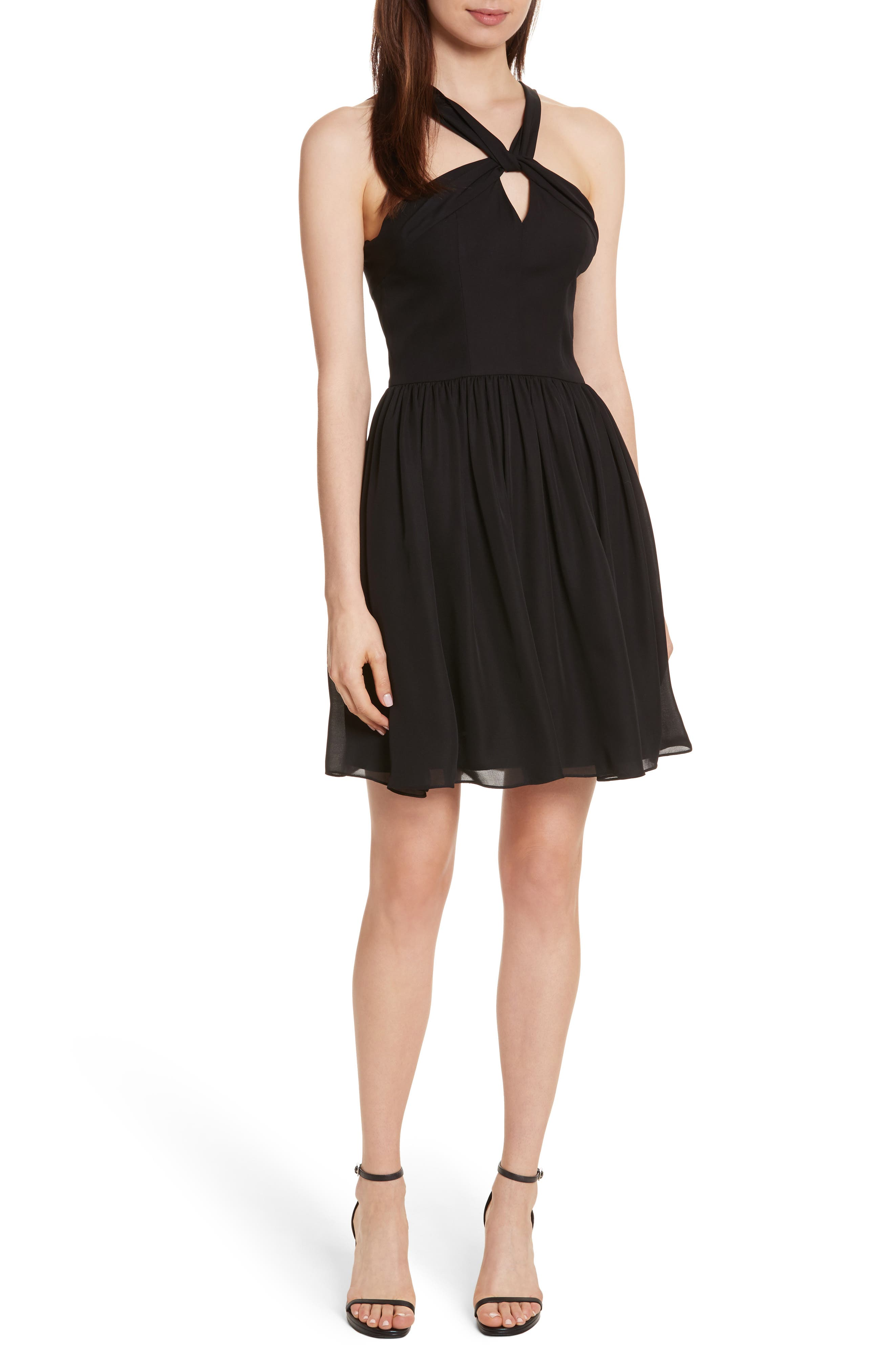 L'AGENCE Valleta Silk Fit & Flare Dress