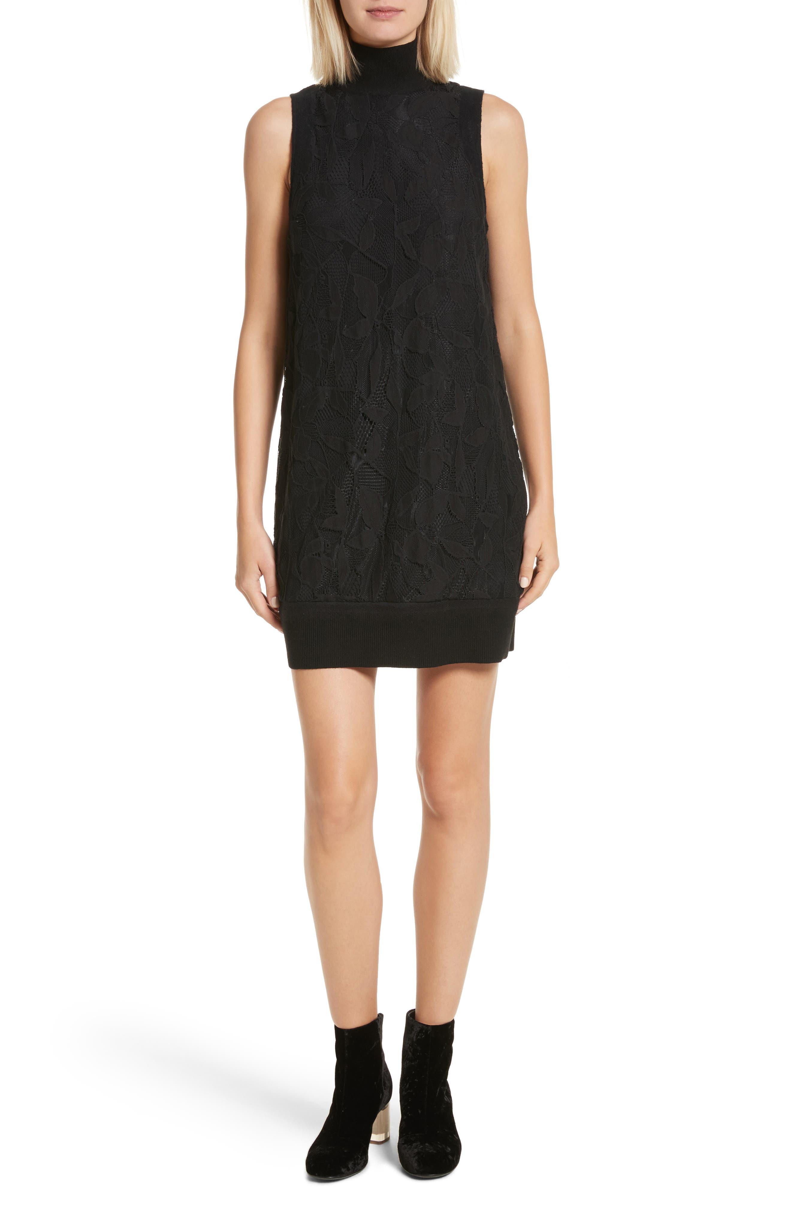 Sofiya Lace Dress,                         Main,                         color, Black