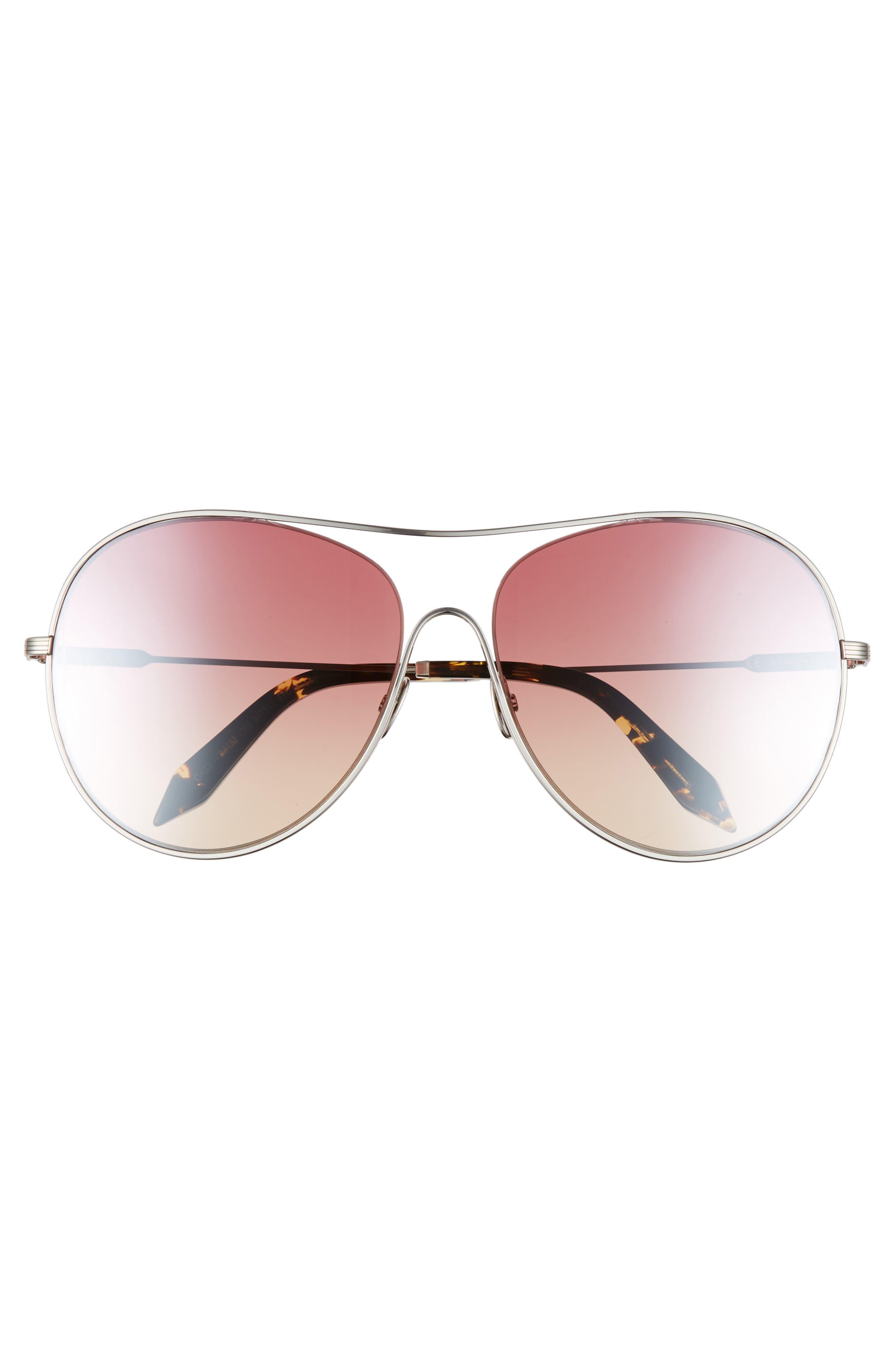 Alternate Image 3  - Victoria Beckham Loop 63mm Oversize Round Sunglasses