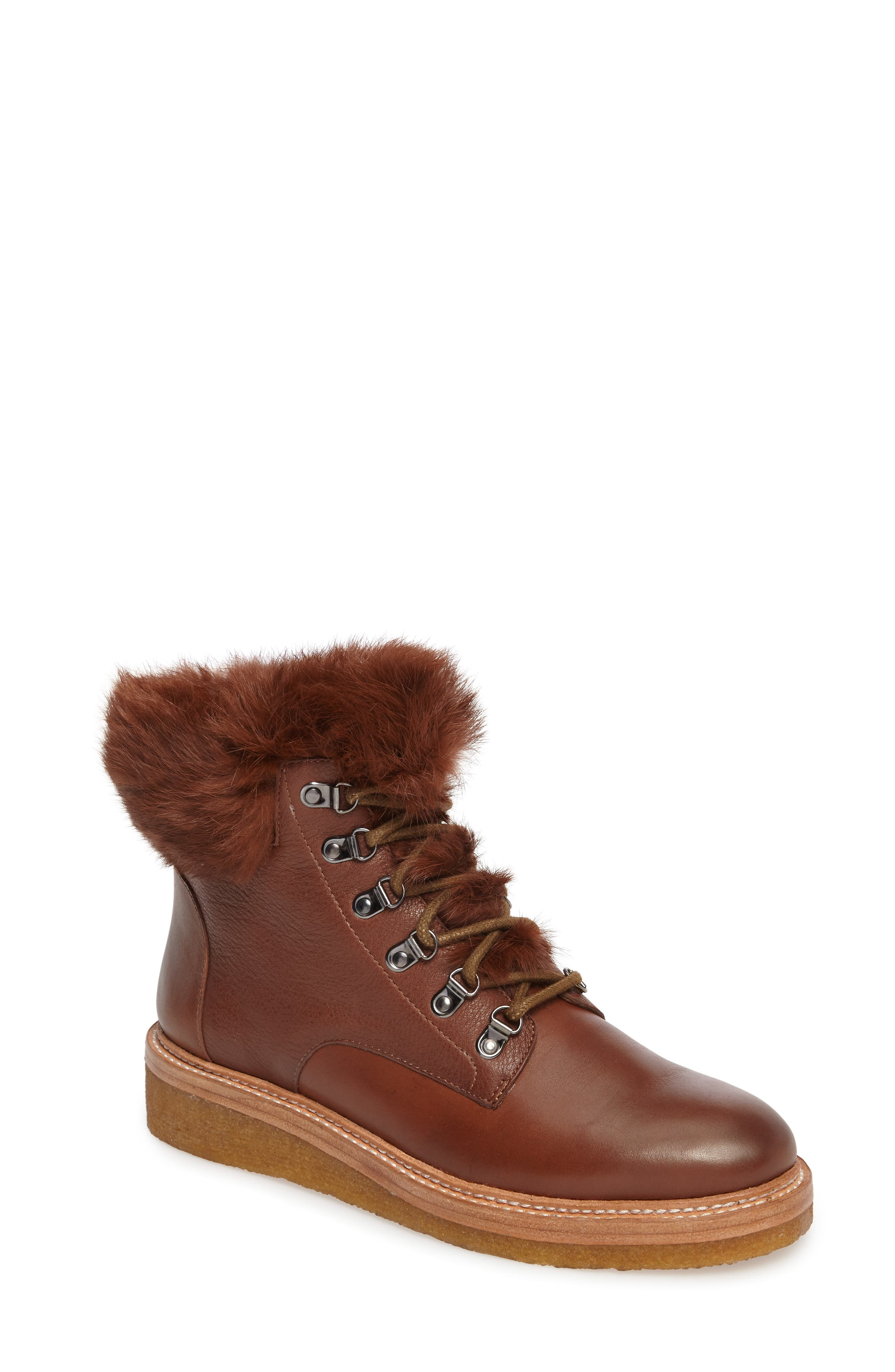 Botkier Winter Genuine Rabbit Fur Trim Boot (Women)