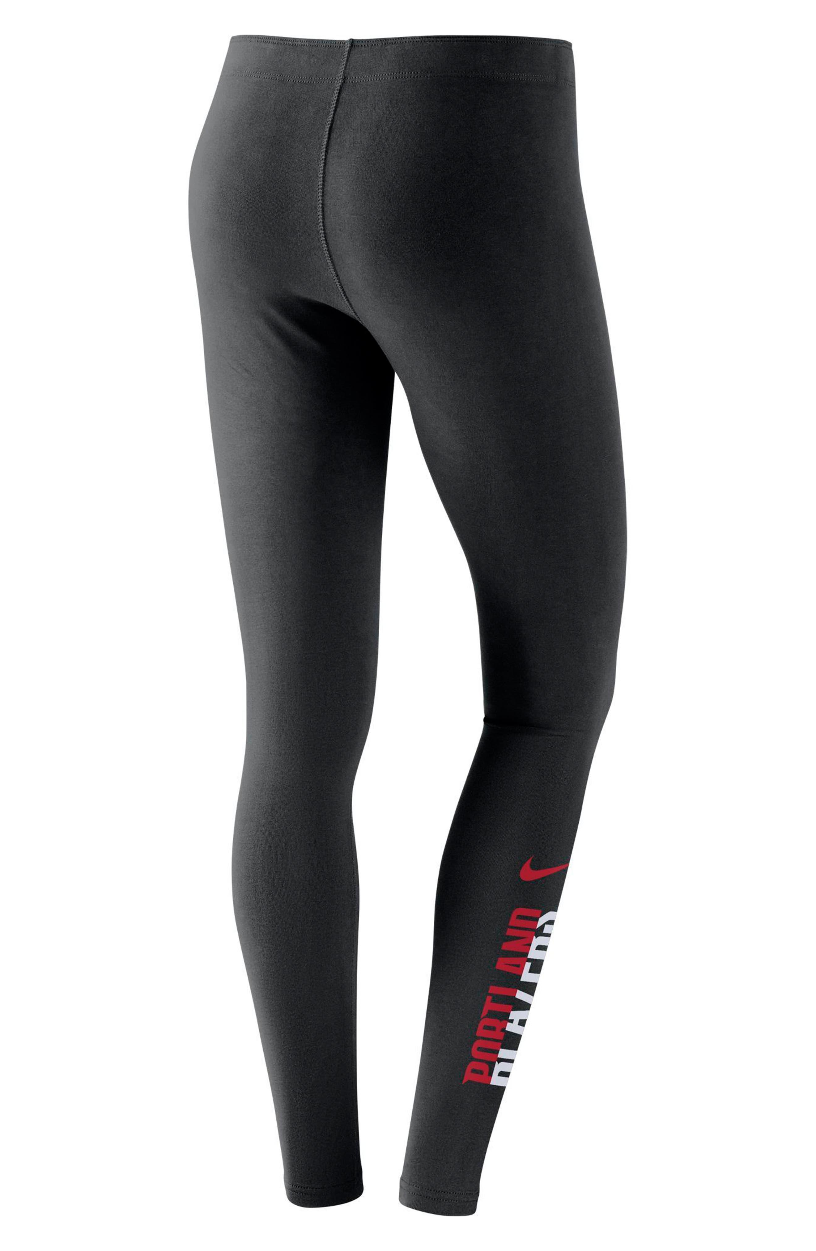Portland Trail Blazers Leg-A-See Women's NBA Tights,                             Alternate thumbnail 2, color,                             Black