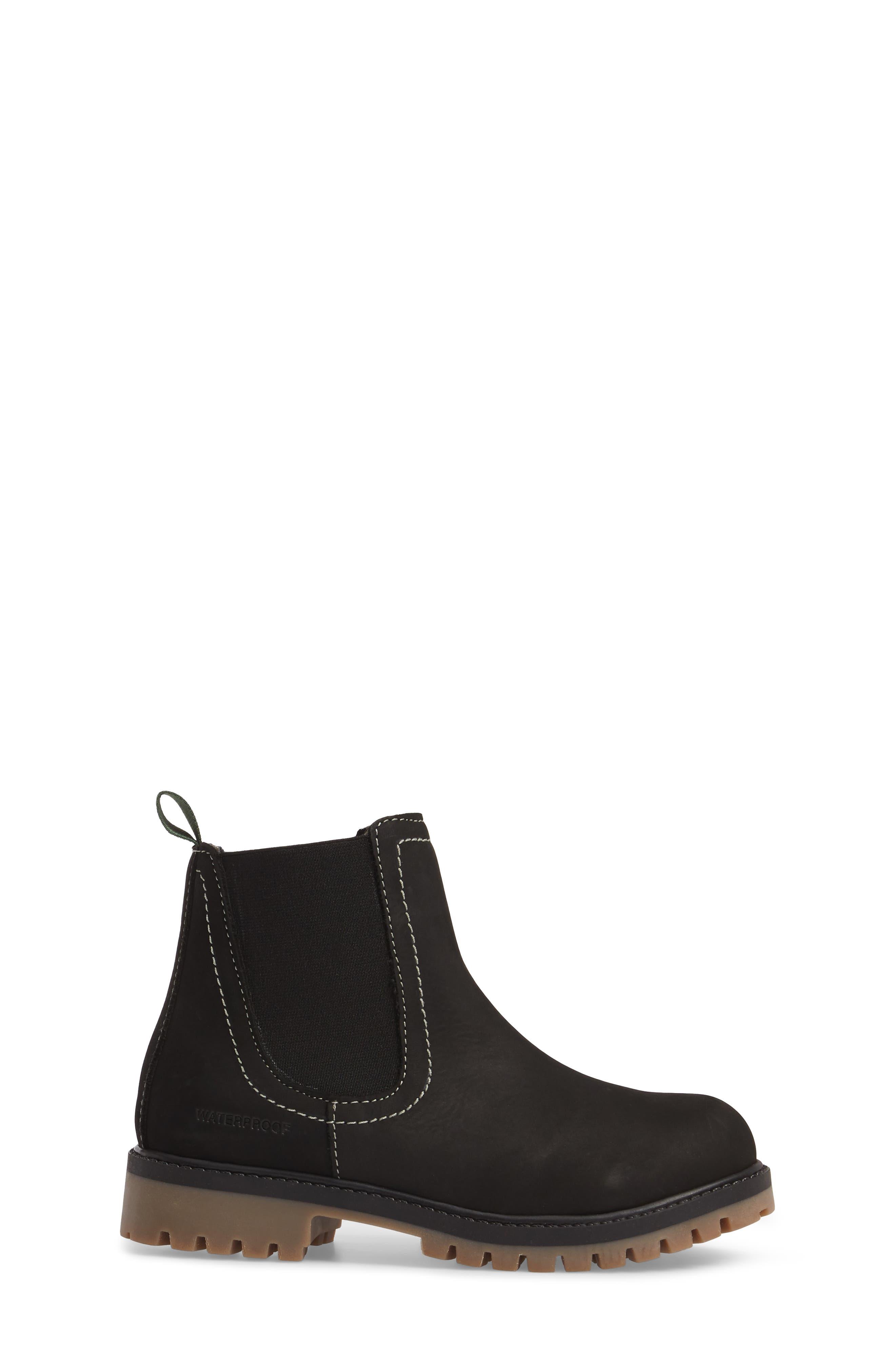 TakodaC Waterproof Chelsea Boot,                             Alternate thumbnail 3, color,                             Black