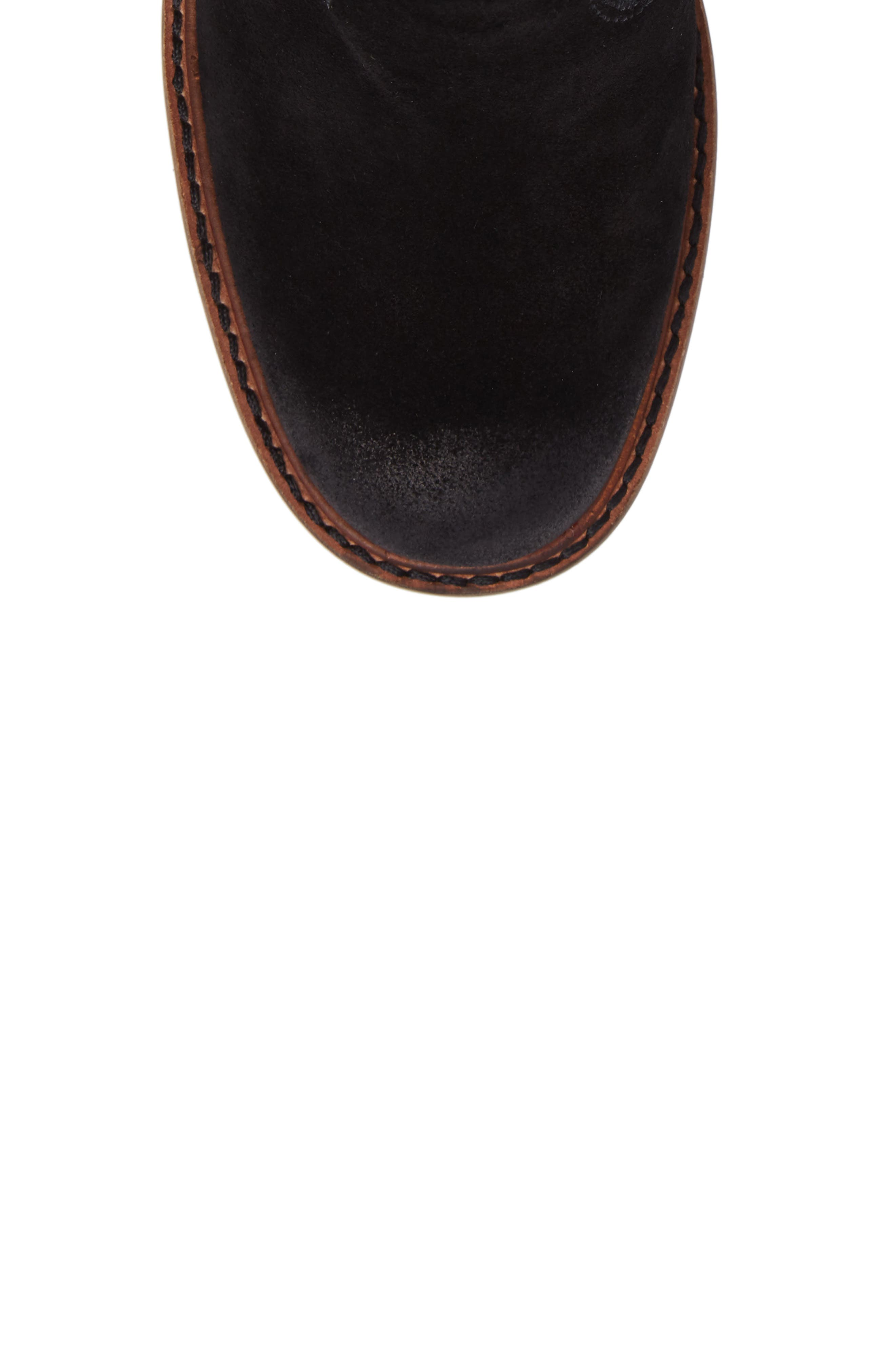 Legion Bootie with Faux Shearling Lining,                             Alternate thumbnail 5, color,                             Black