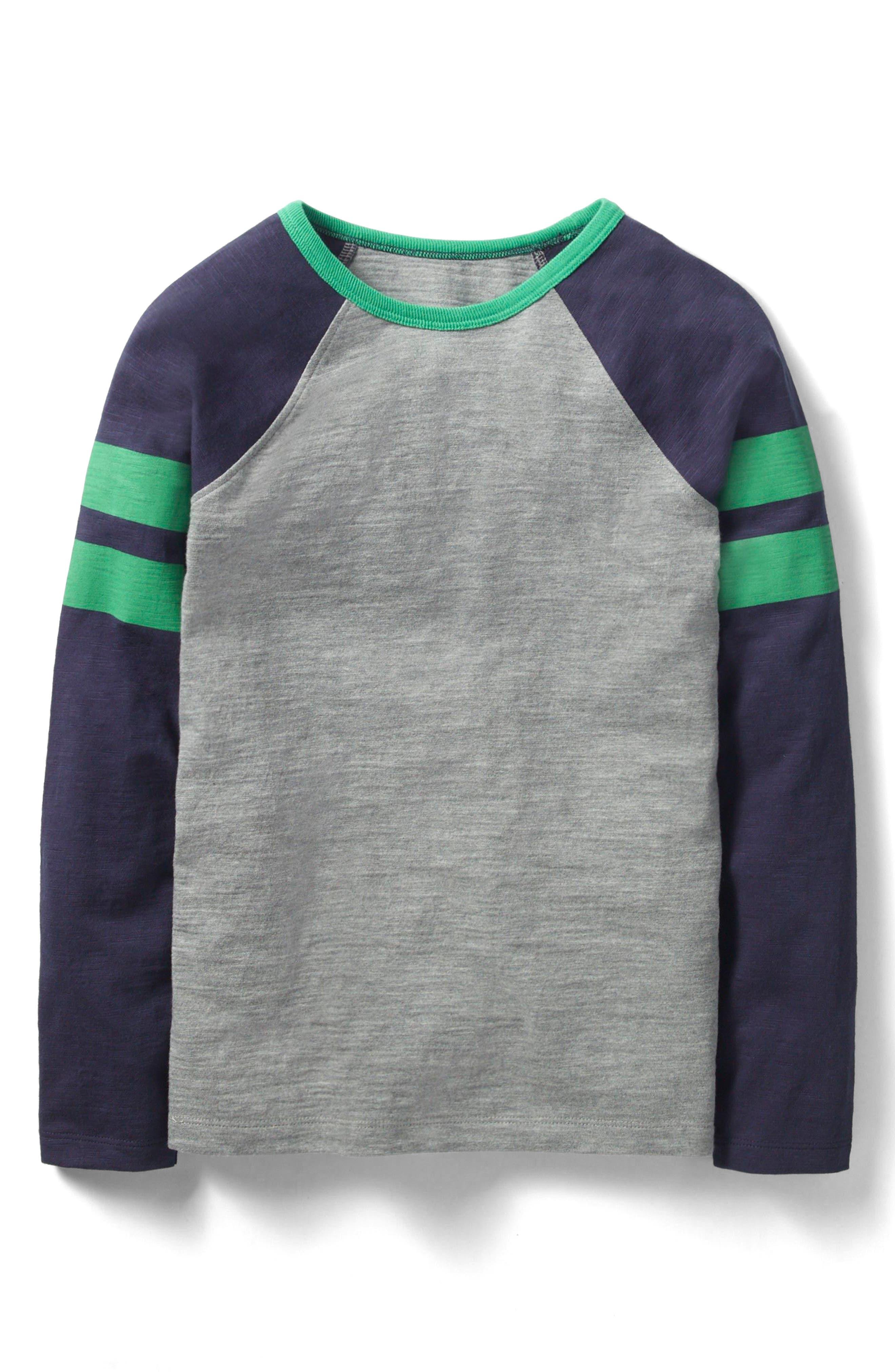 Mini Boden Sports Stripe Long Sleeve T-Shirt (Little Boys & Big Boys)