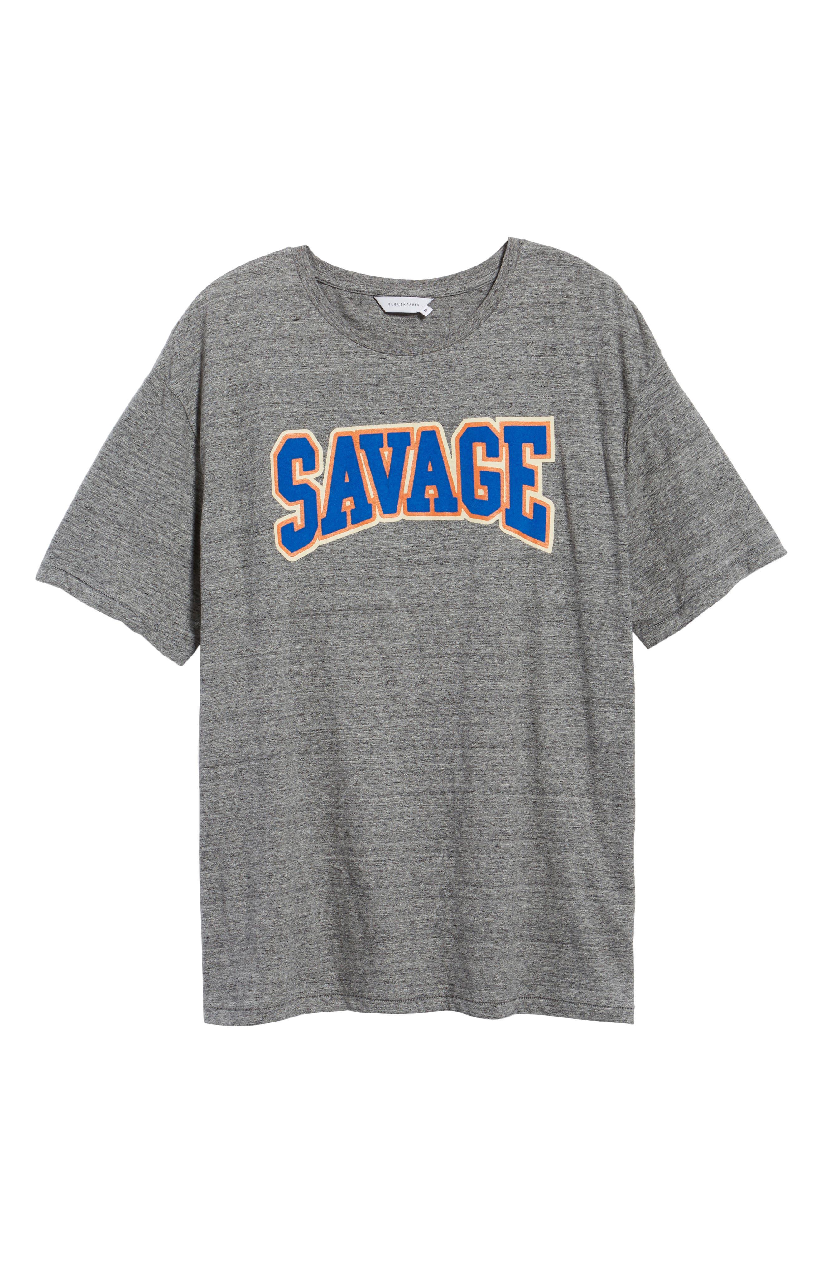 Savage T-Shirt,                             Alternate thumbnail 6, color,                             Grunder Grey