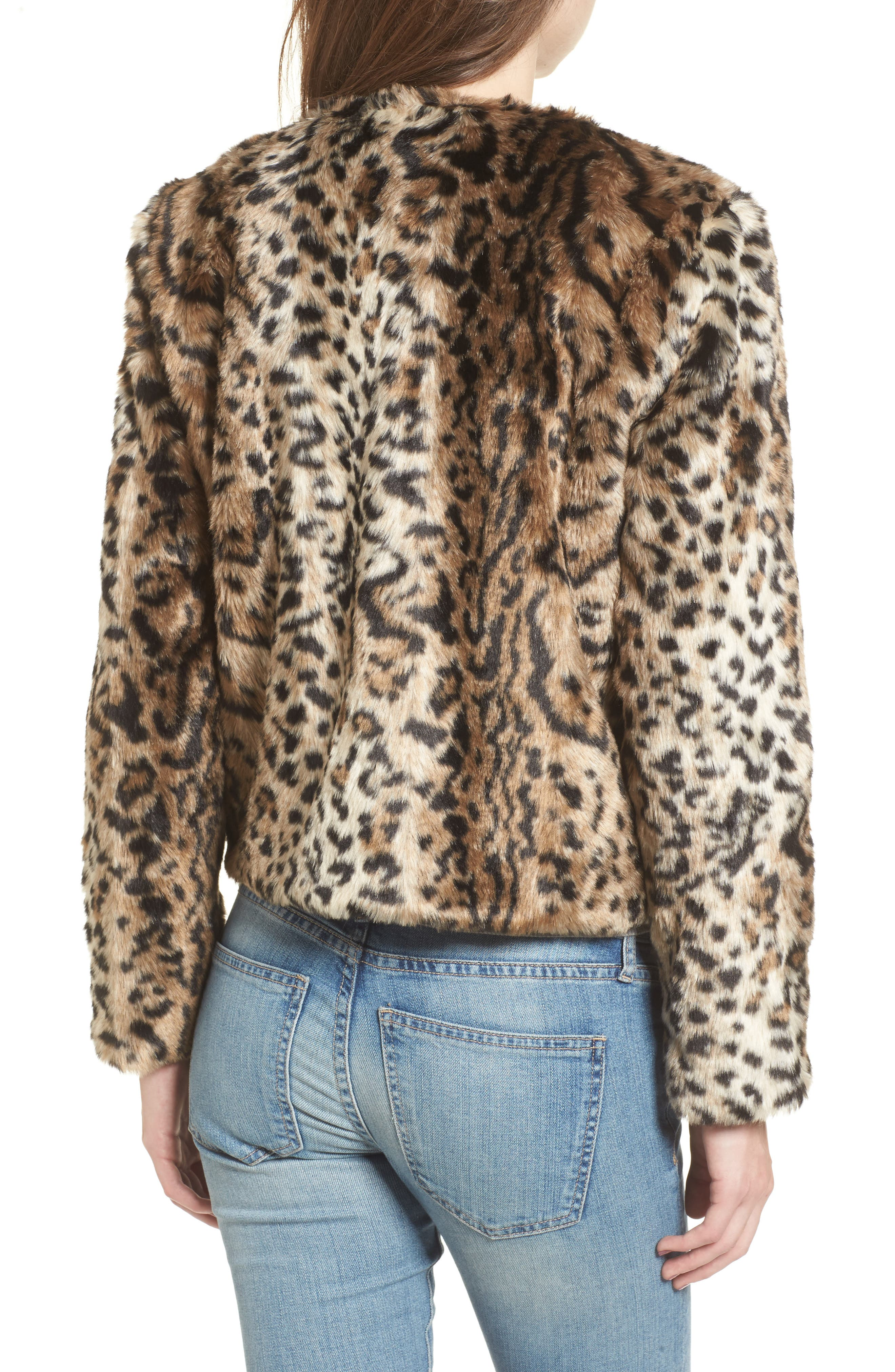 Alternate Image 2  - BB Dakota McKinley Leopard Print Faux Fur Jacket