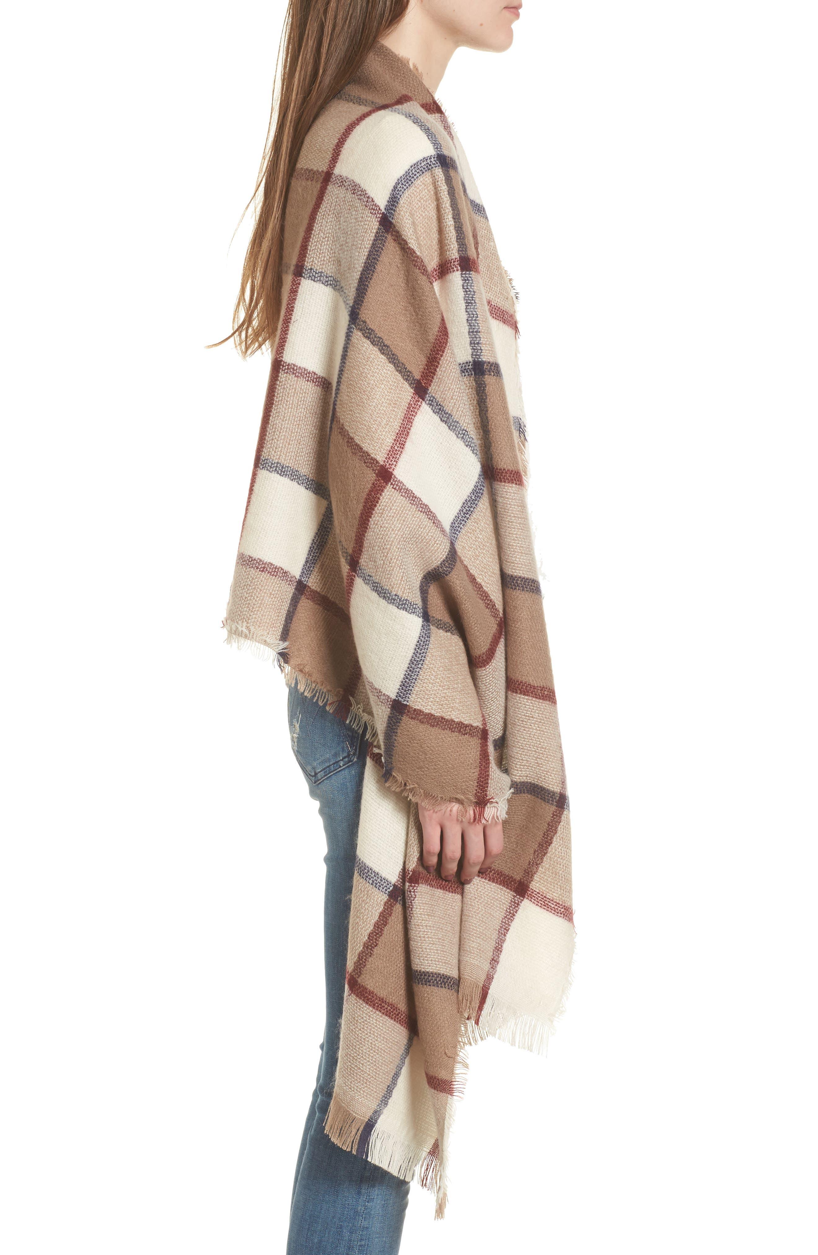 Alternate Image 3  - Sole Society Windowpane Check Blanket Scarf