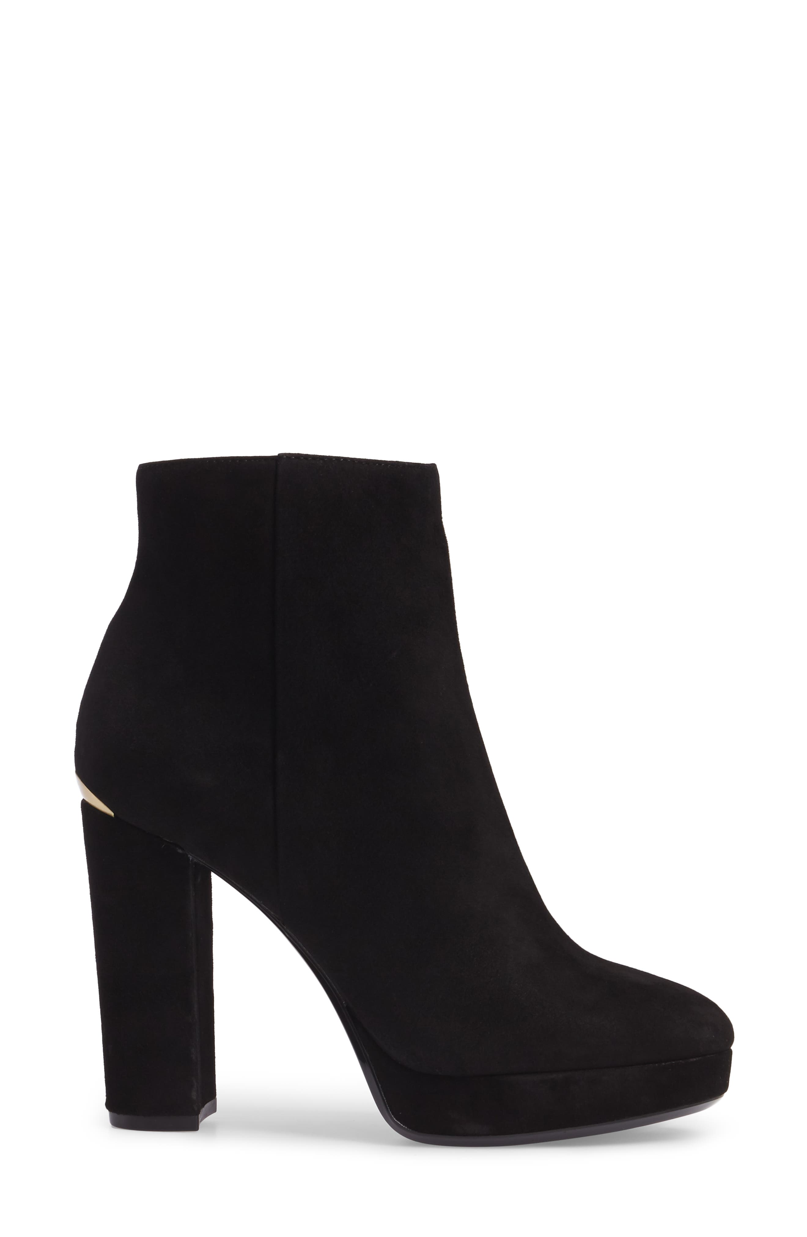 Martha Bootie,                             Alternate thumbnail 3, color,                             Black Suede