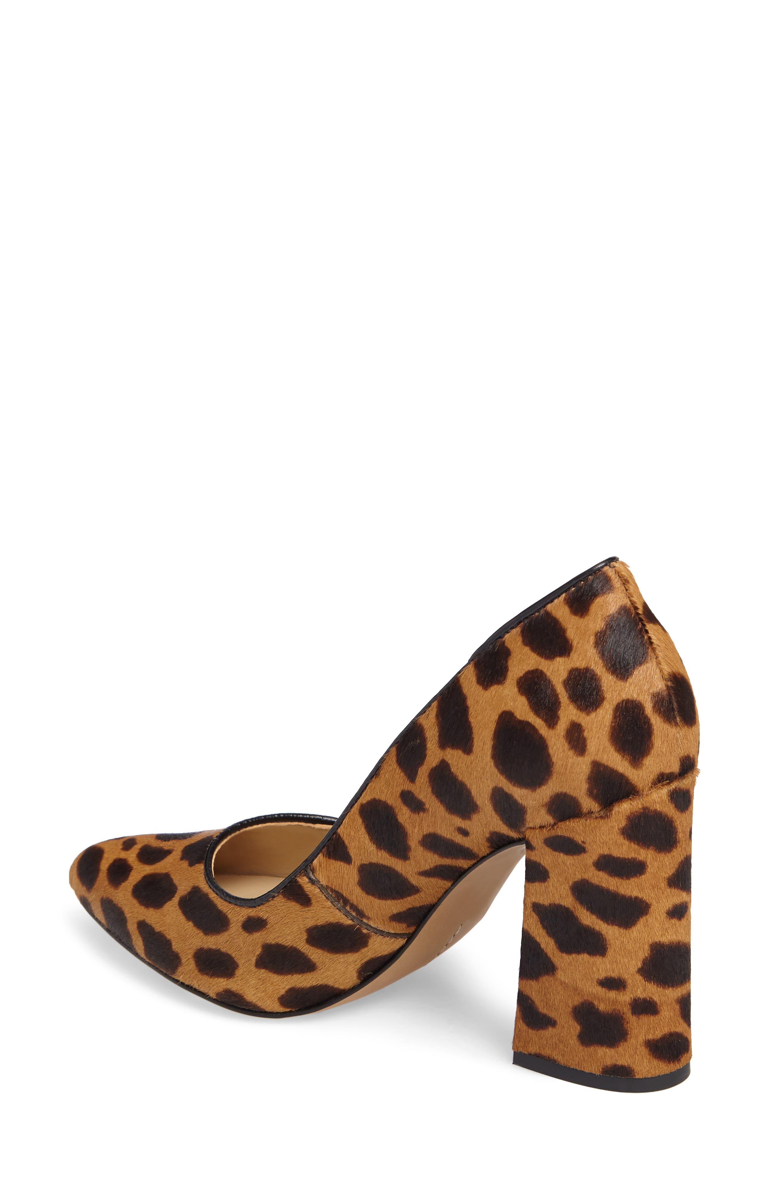 Talise Genuine Calf Hair Pointy Toe Pump,                             Alternate thumbnail 2, color,                             Leopard Brown