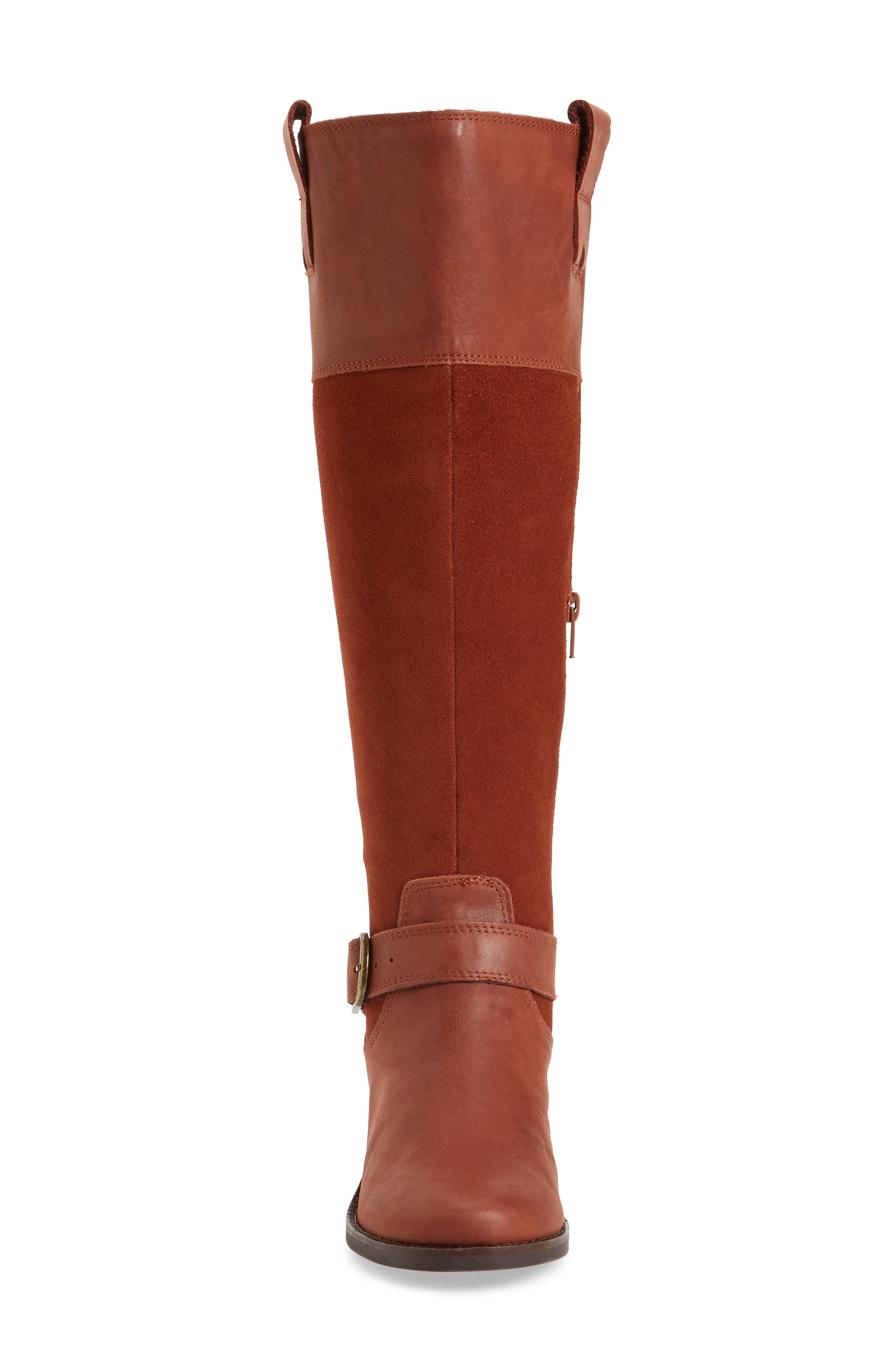 Kailan Ankle Strap Tall Boot,                             Alternate thumbnail 4, color,                             Rye Leather