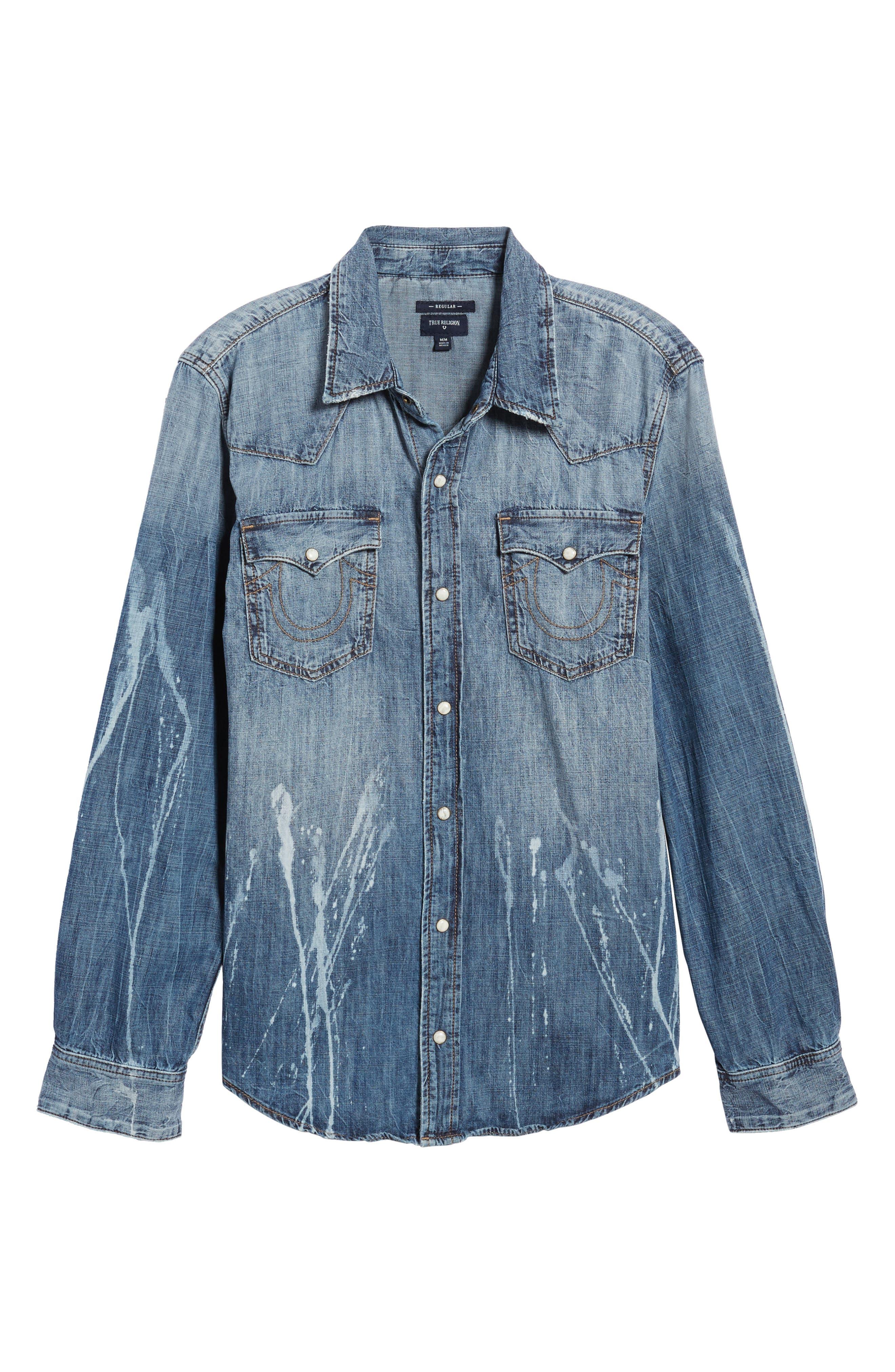 Alternate Image 6  - True Religion Brand Jeans Ryan Runyon Rebel Long Sleeve Western Shirt