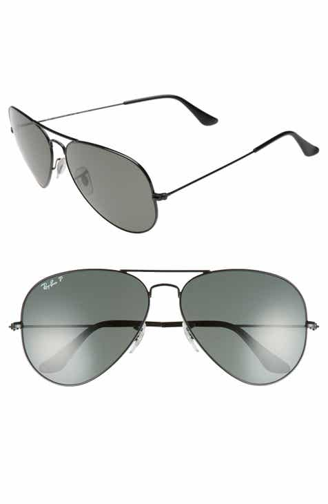 9534458529 Ray-Ban Original 62mm Polarized Aviator Sunglasses