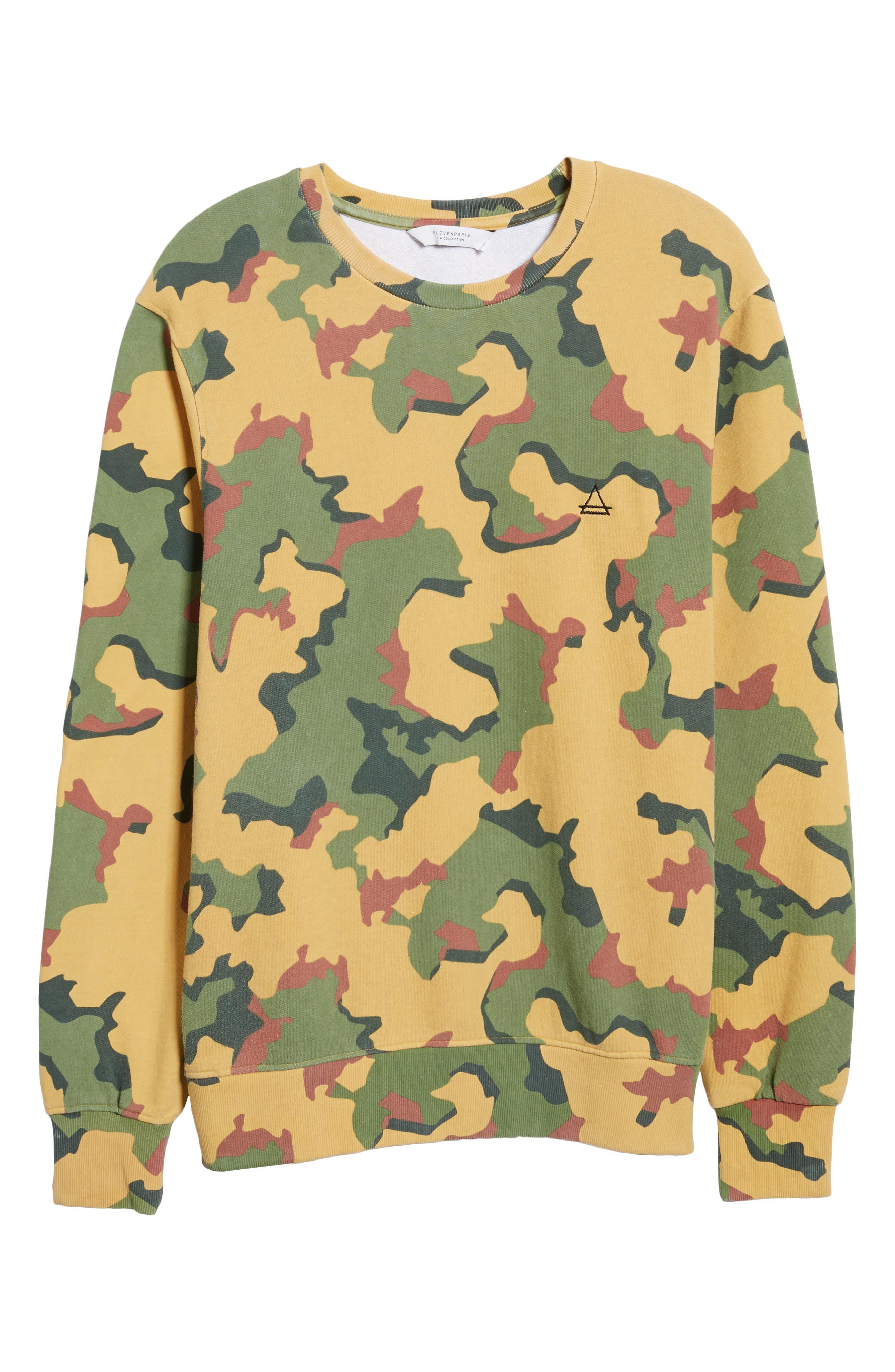 Anatole Camo Fleece Sweatshirt,                             Alternate thumbnail 6, color,                             Big Camo Print