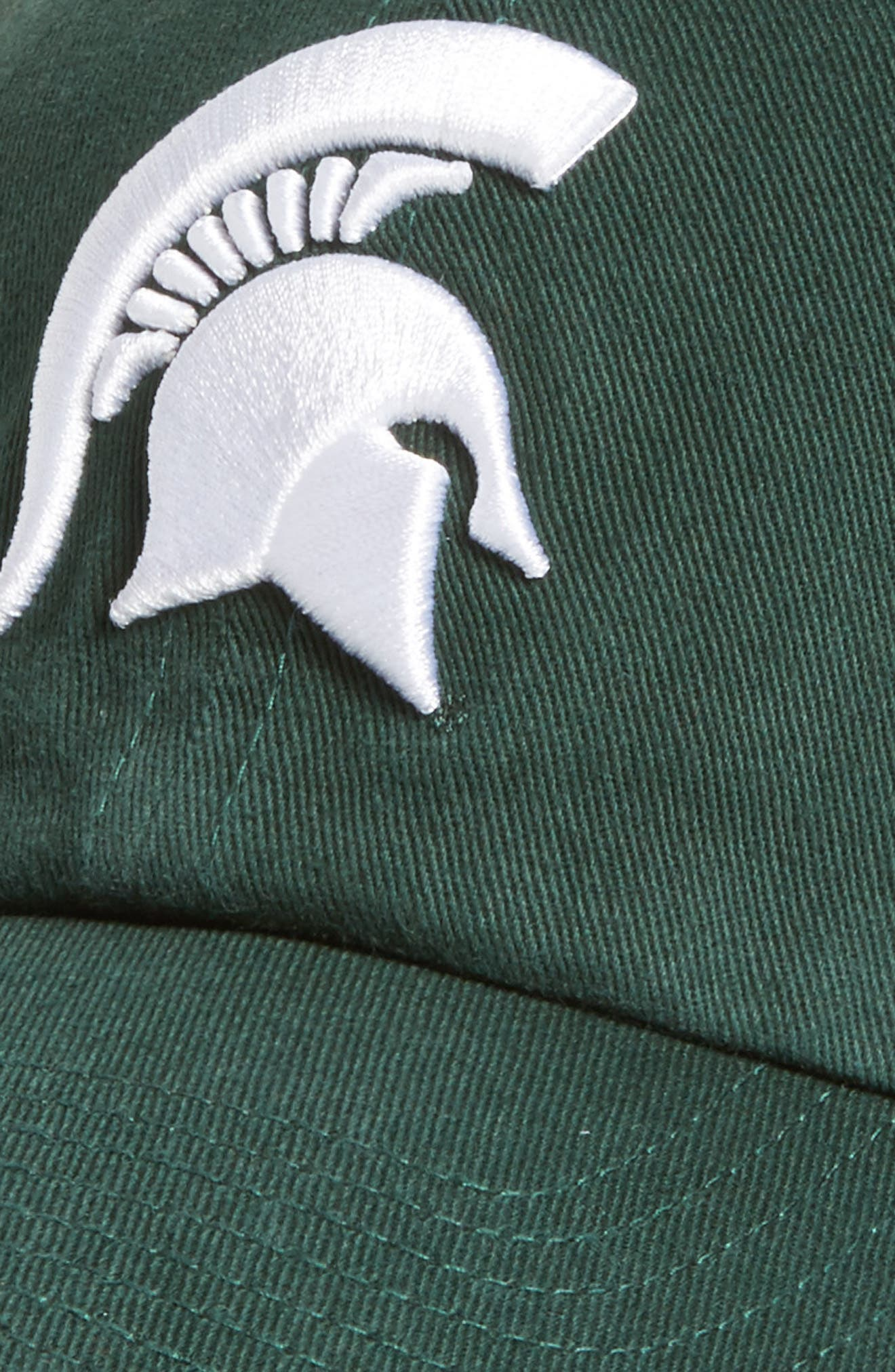 Michigan State Clean Up Baseball Cap,                             Alternate thumbnail 3, color,                             Dark Green