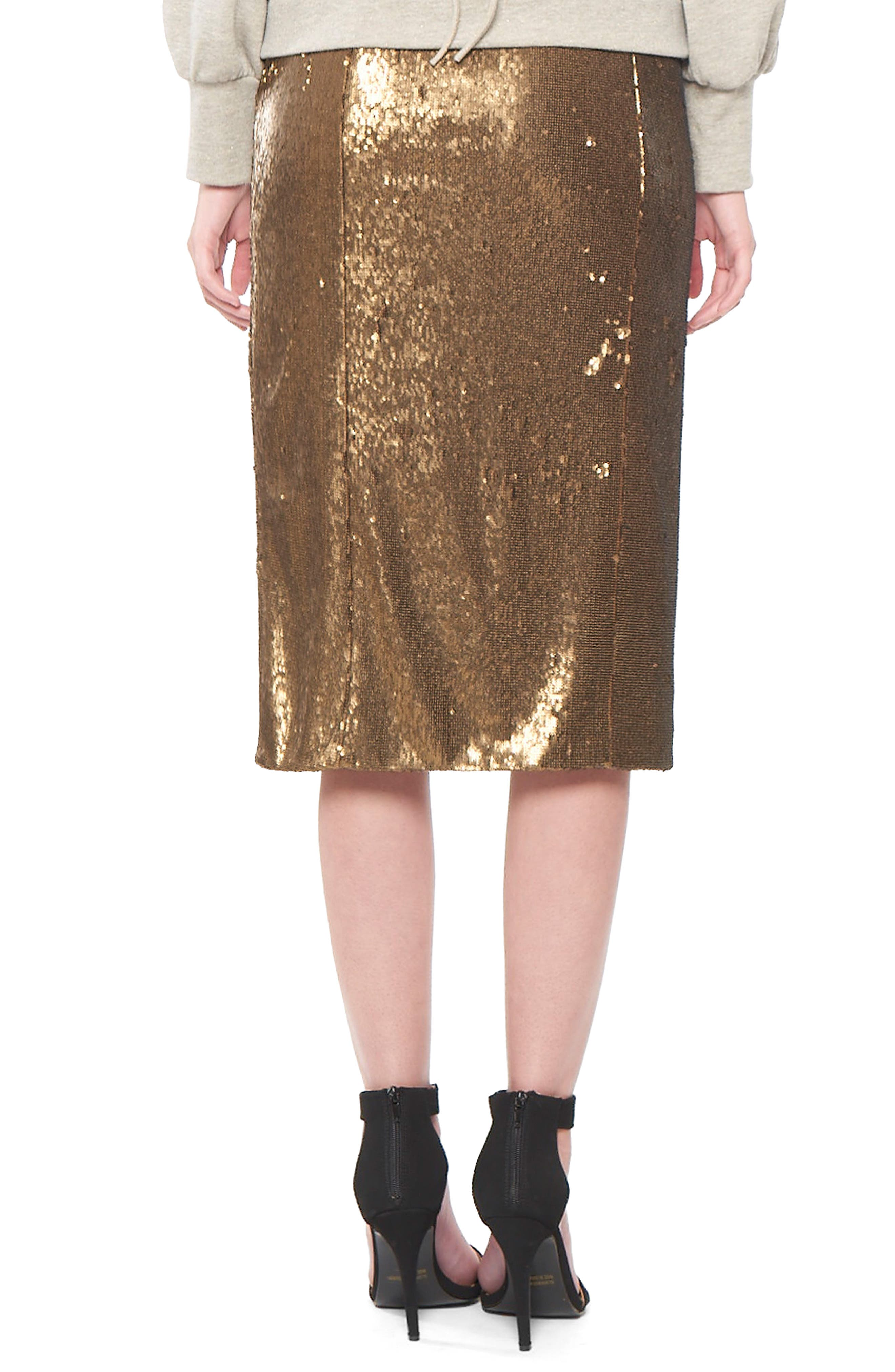 Alternate Image 2  - Willow & Clay Sequin Wrap Skirt