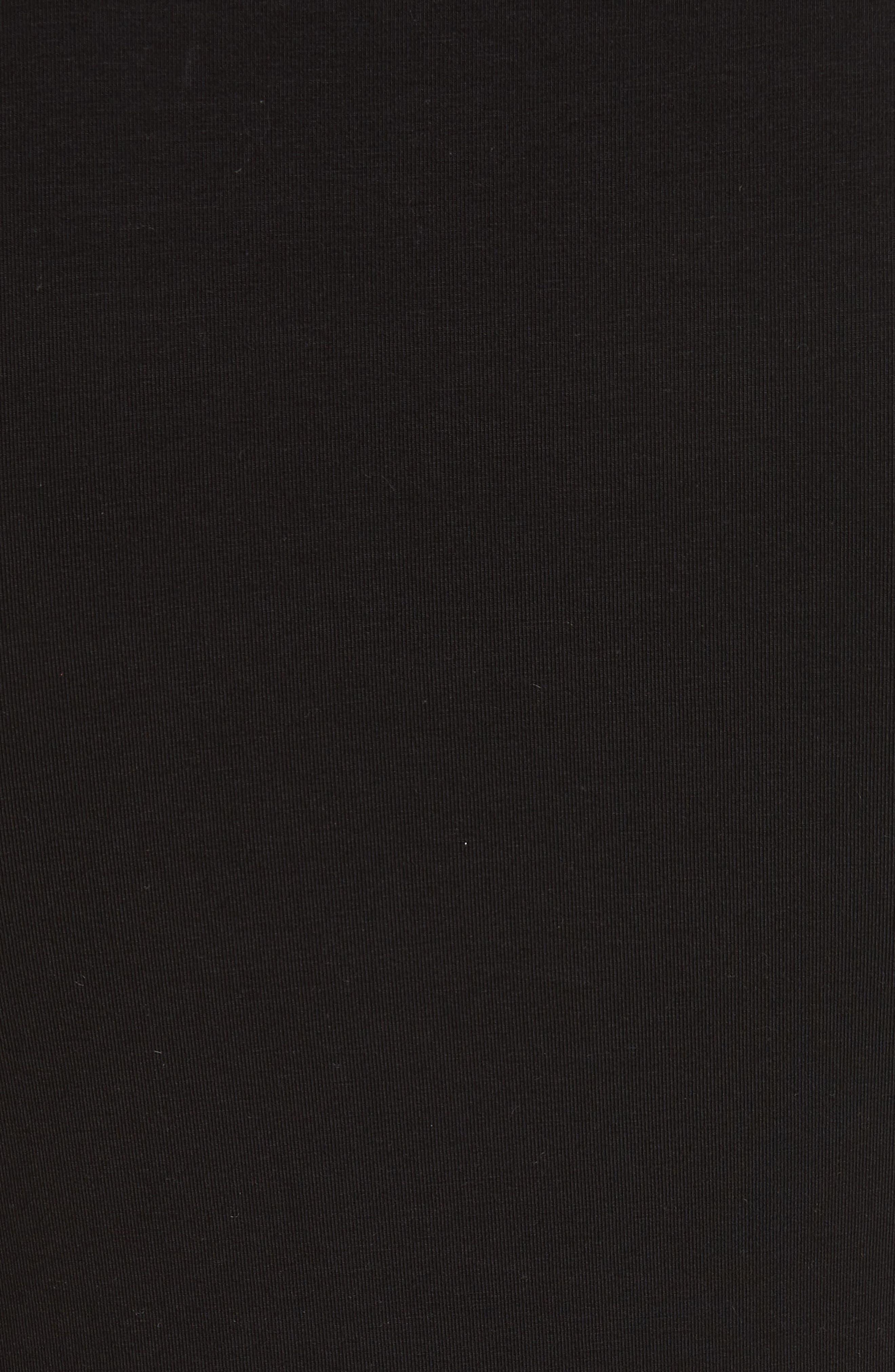 Stretch Pima Cotton Baby Tee,                             Alternate thumbnail 5, color,                             Black