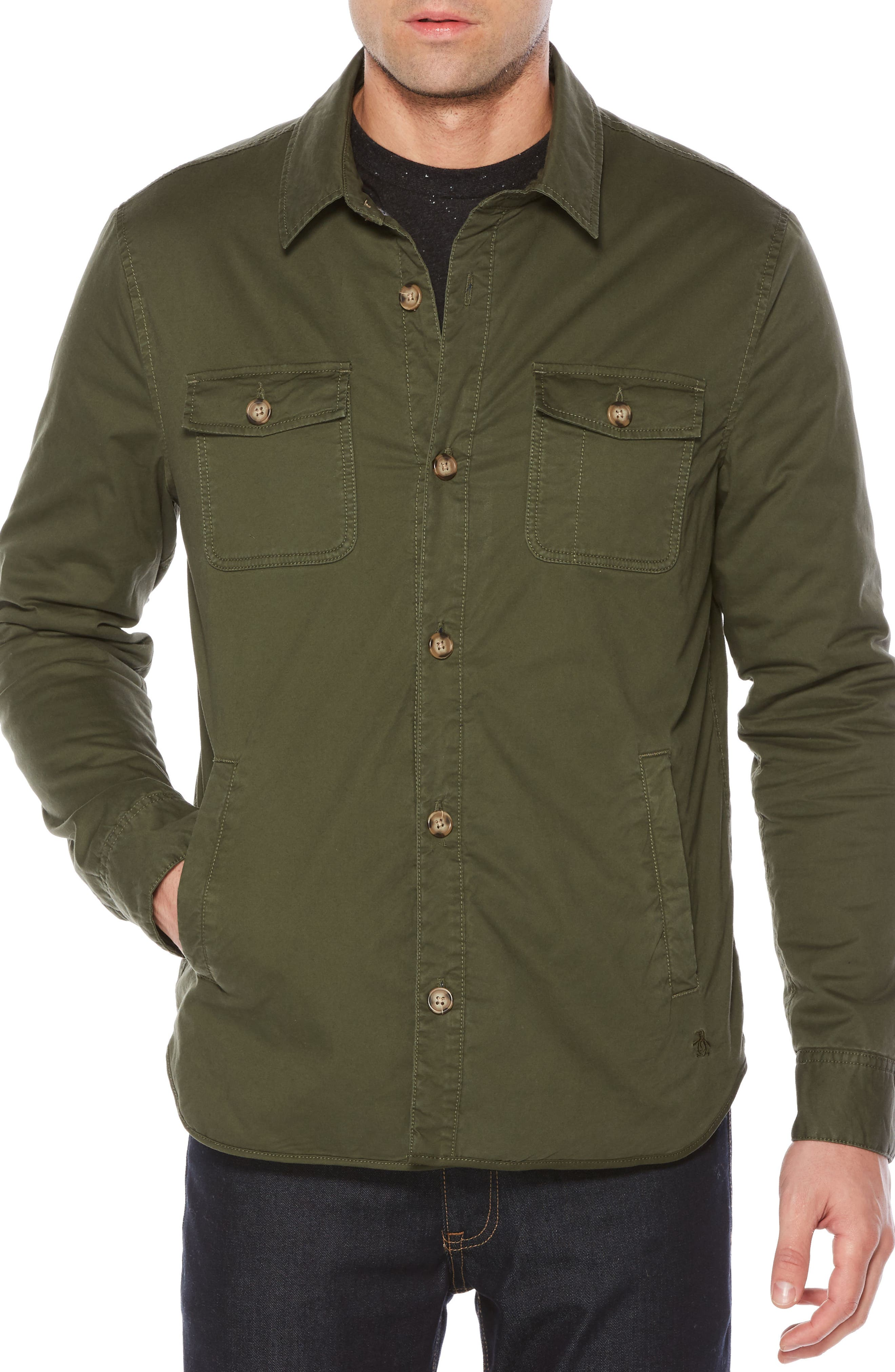 Stretch Four-Pocket Jacket,                         Main,                         color, Forest Night
