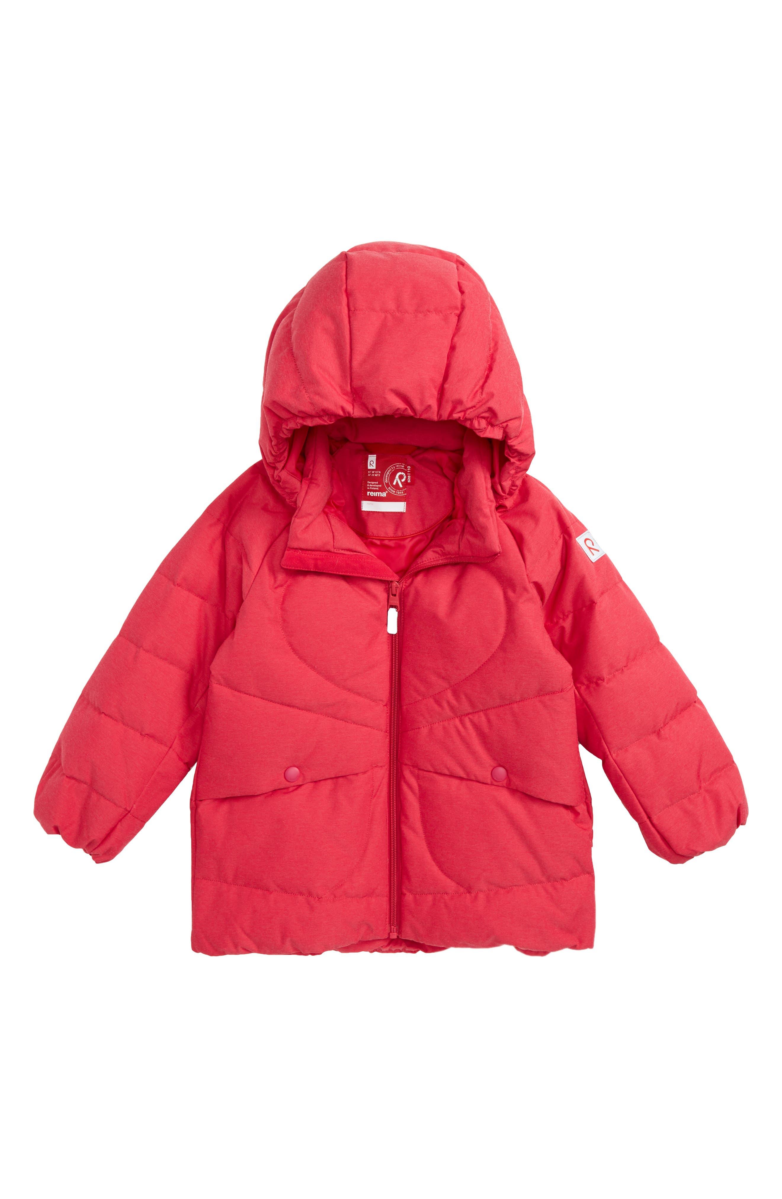 Main Image - Reima Loiste Water Repellent Hooded Down Jacket (Toddler Girls & Little Girls)