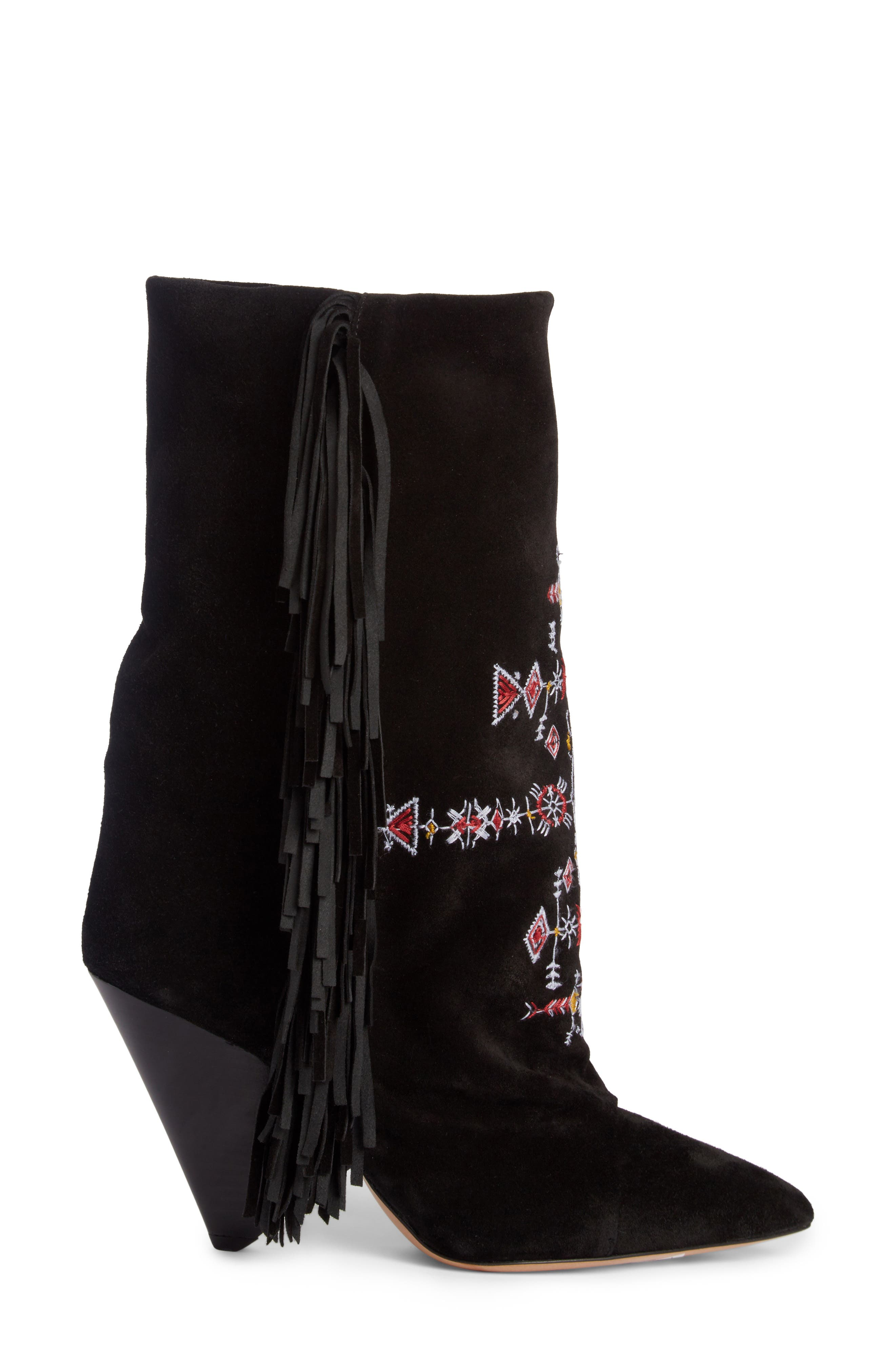 Alternate Image 4  - Isabel Marant Lesten Embroidered Fringe Boot (Women)