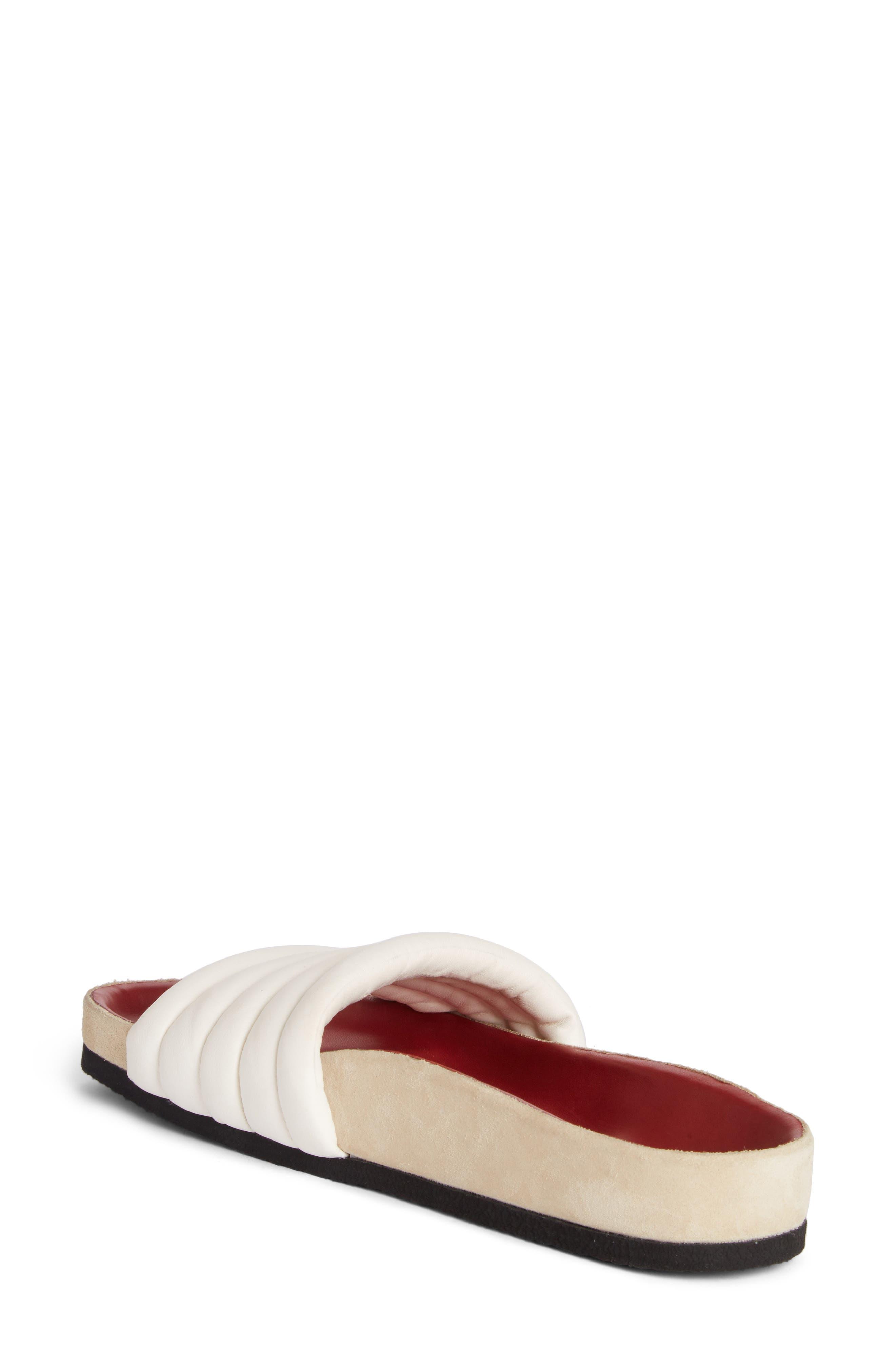 Hellea Slide Sandal,                             Alternate thumbnail 2, color,                             White