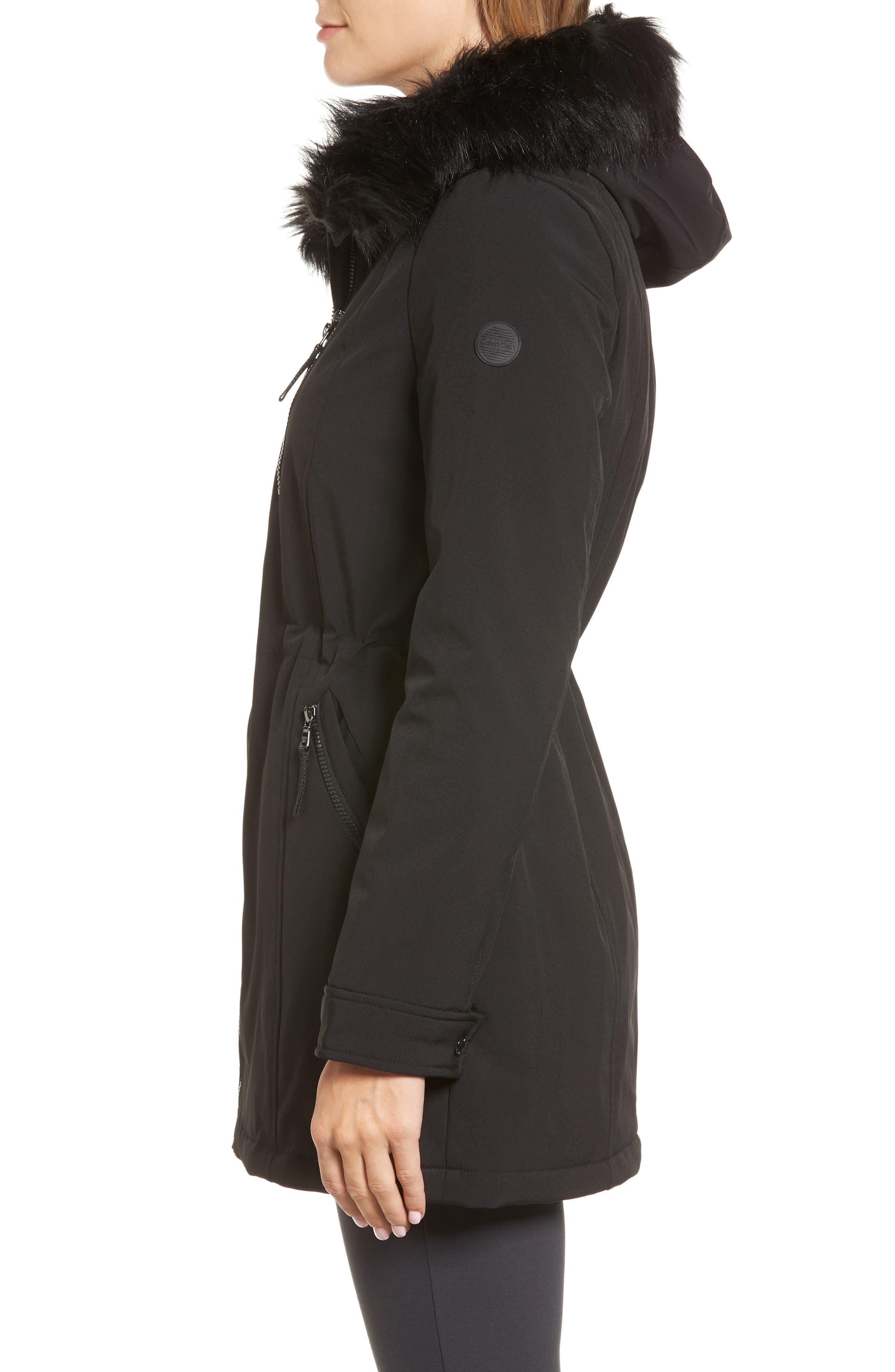 Soft Shell Anorak Jacket,                             Alternate thumbnail 3, color,                             Black