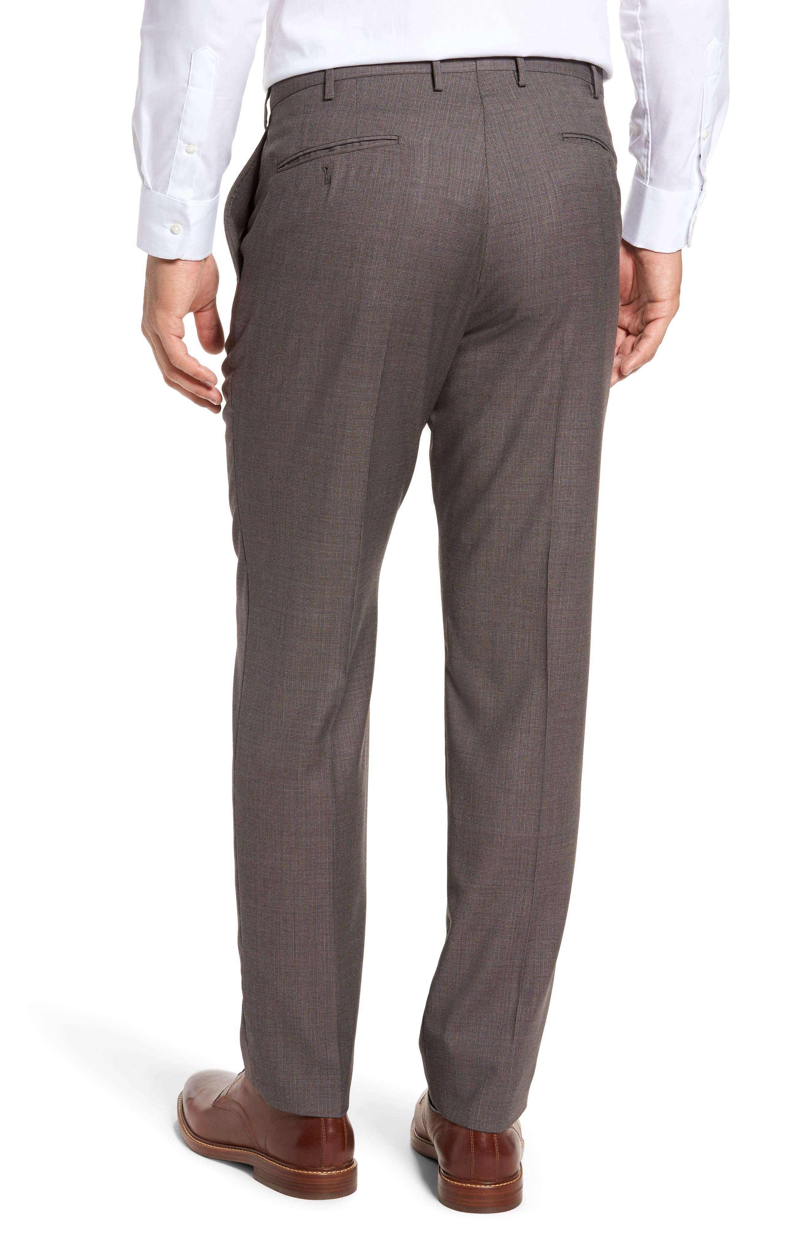 Alternate Image 2  - Incotex Benson Flat Front Wool Trousers