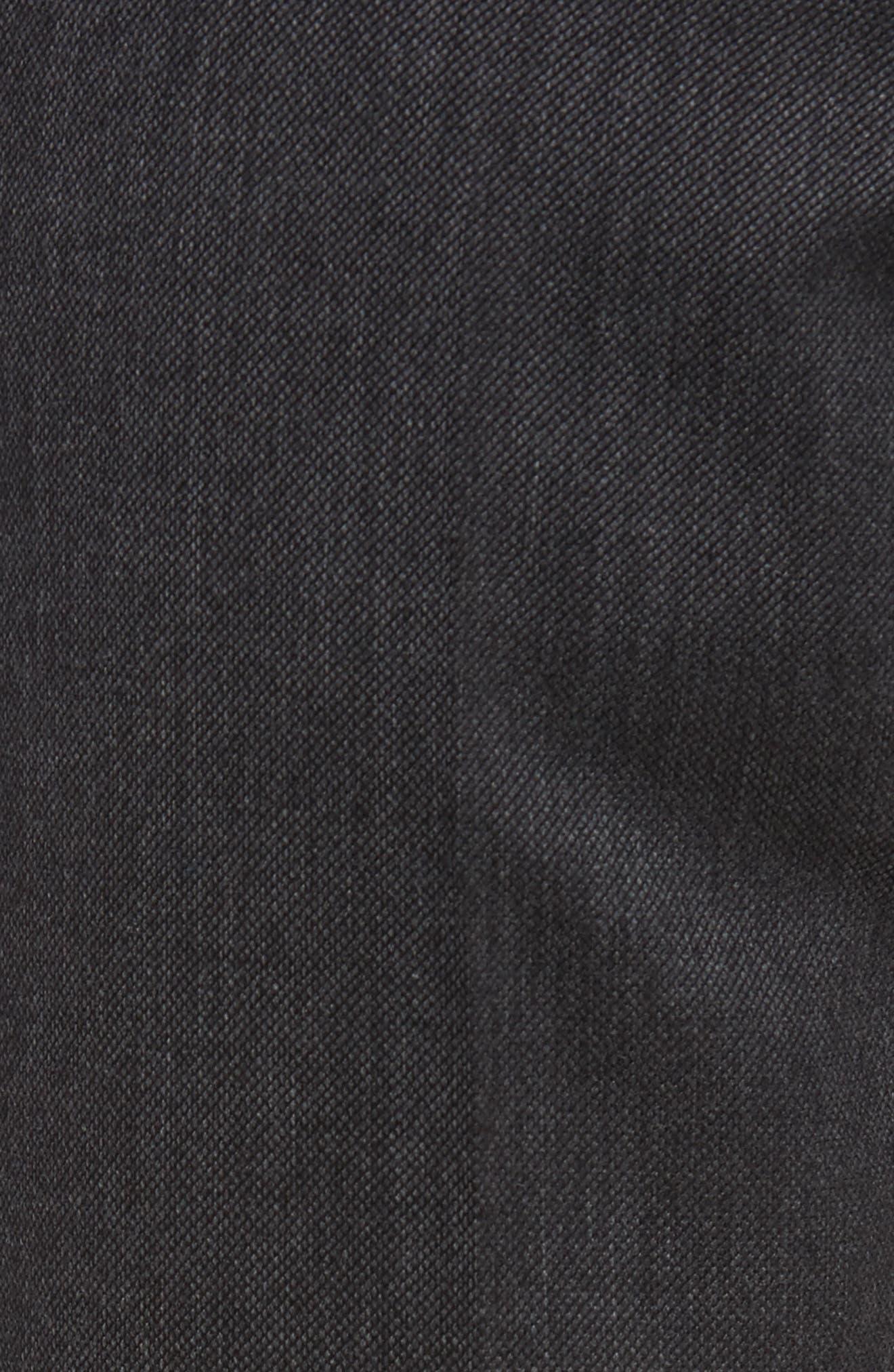 Benson Flat Front Wool Blend Trousers,                             Alternate thumbnail 2, color,                             Dark Grey