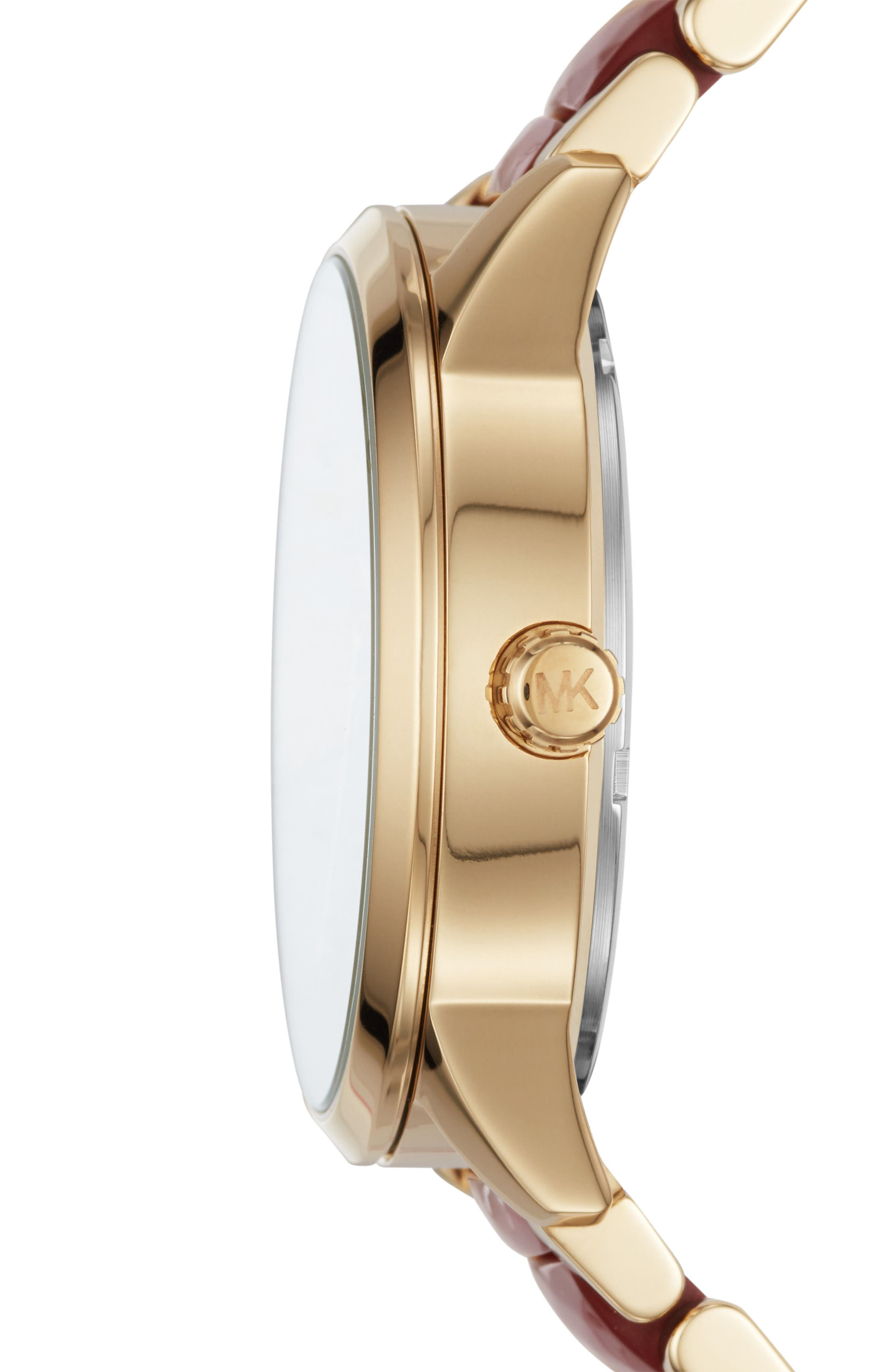 Slater Jewel Dial Bracelet Watch, 40mm,                             Alternate thumbnail 2, color,                             Gold/ Red/ Gold