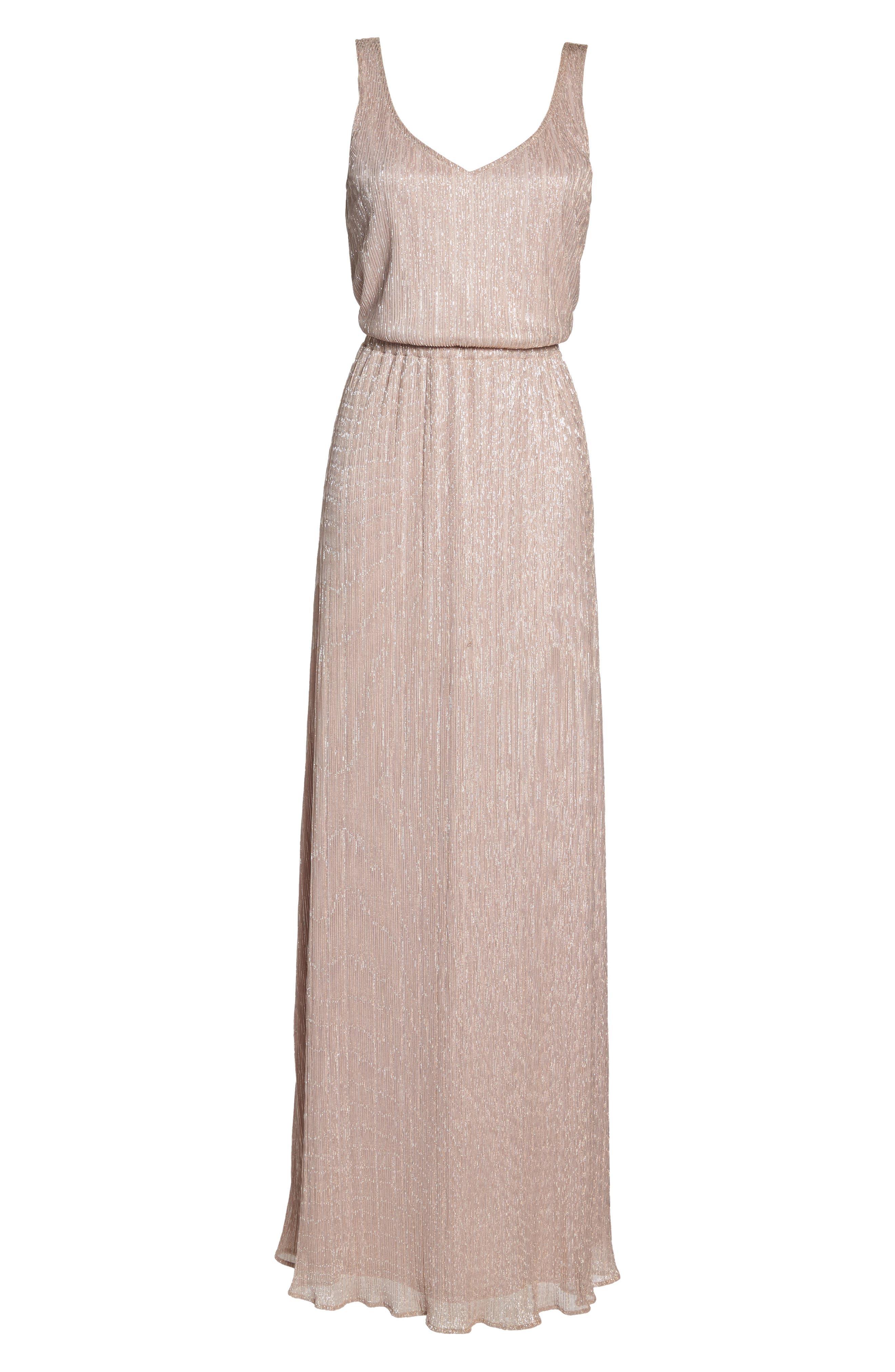 Kendall Blouson Maxi Dress,                             Alternate thumbnail 6, color,                             Magic Muave Glitter